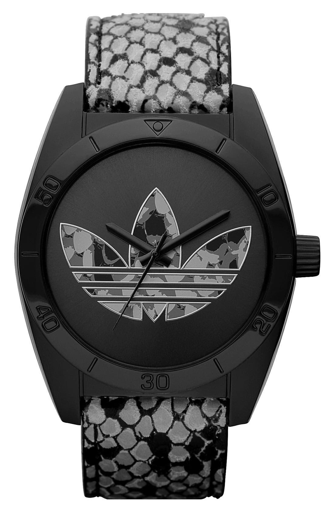 Alternate Image 1 Selected - adidas Originals 'Santiago' Animal Print Watch