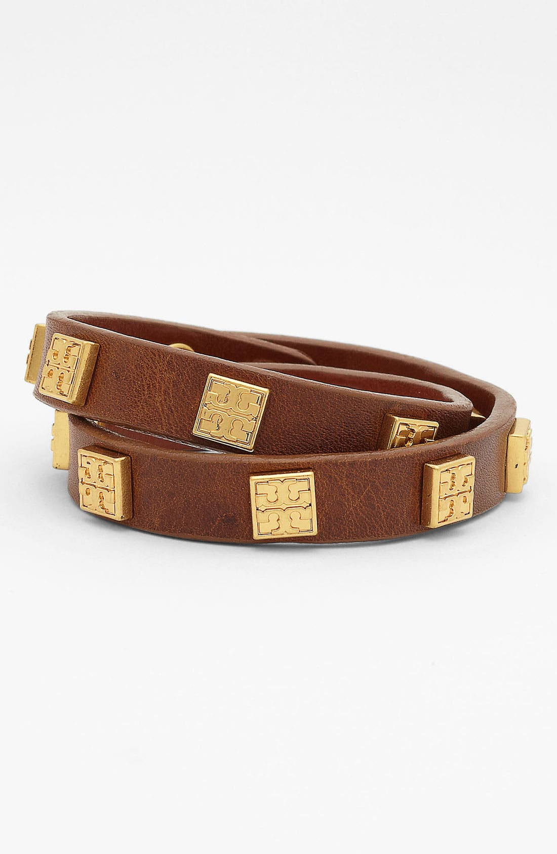 Alternate Image 1 Selected - Tory Burch Logo Double Wrap Bracelet