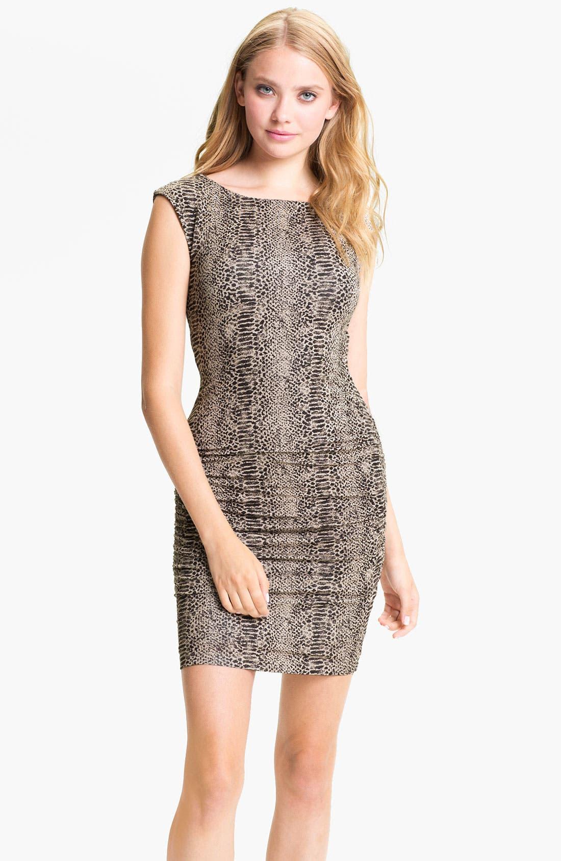 Main Image - Tart 'Elena' Reptile Print Sheath Dress