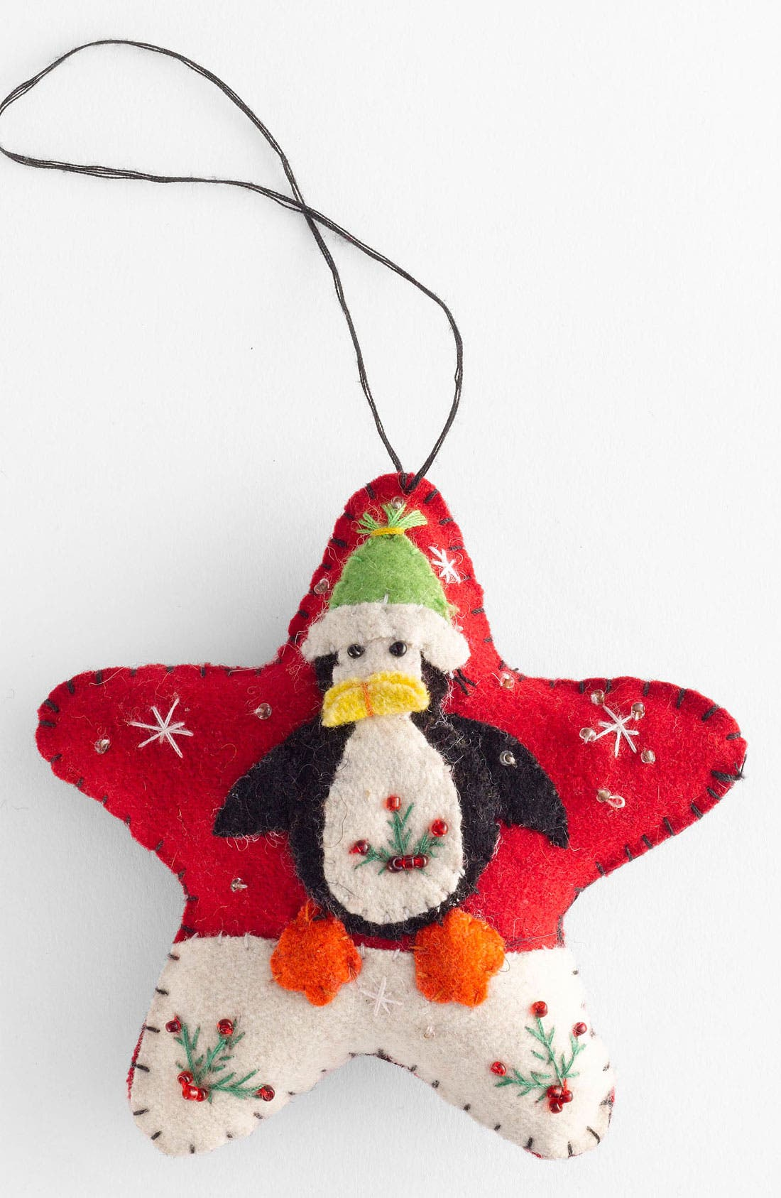 Alternate Image 1 Selected - New World Arts 'Puffy Star with Penguin' Ornament