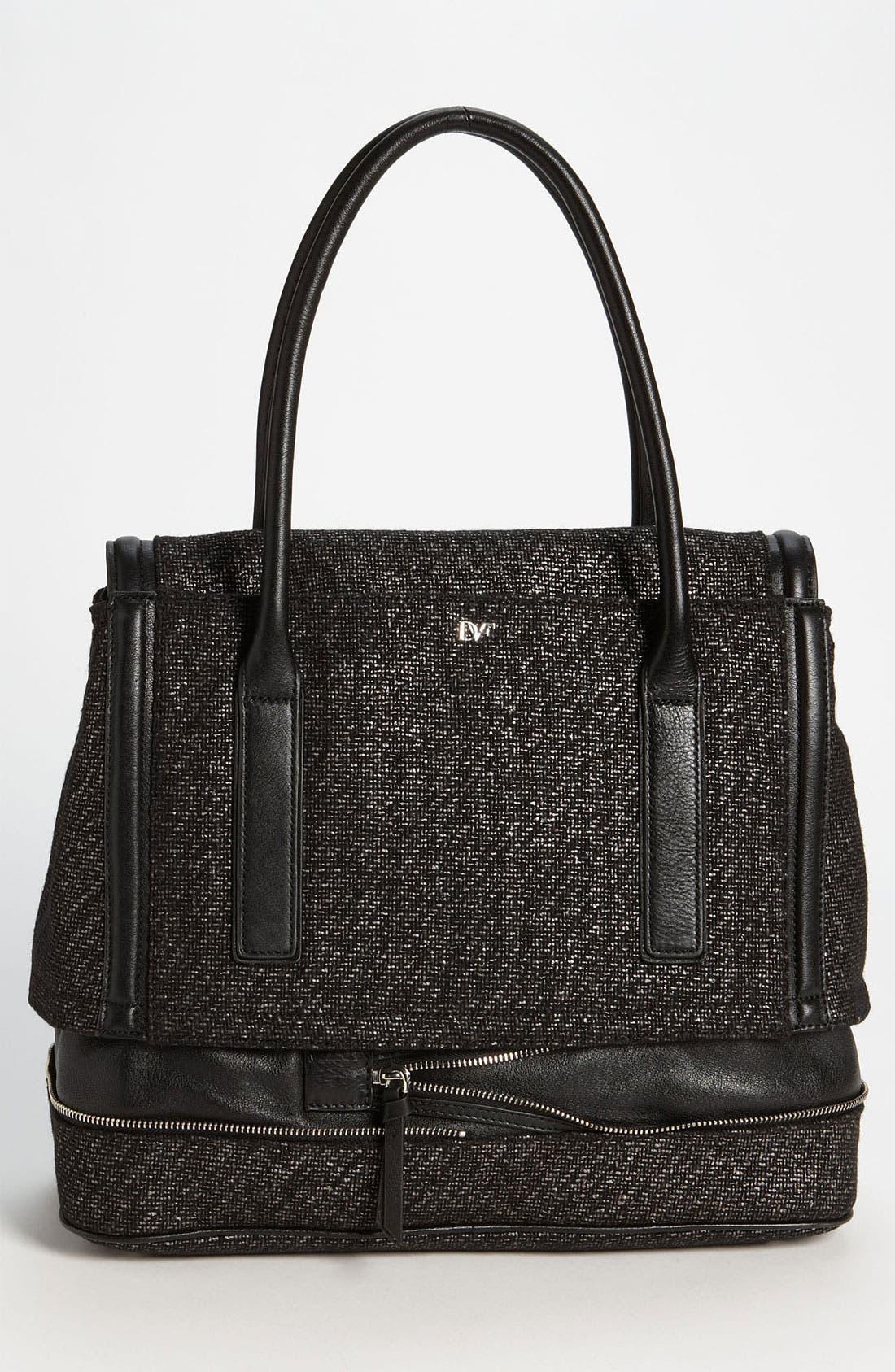 Alternate Image 4  - Diane von Furstenberg 'New Harper - Laurel' Tweed Shoulder Bag