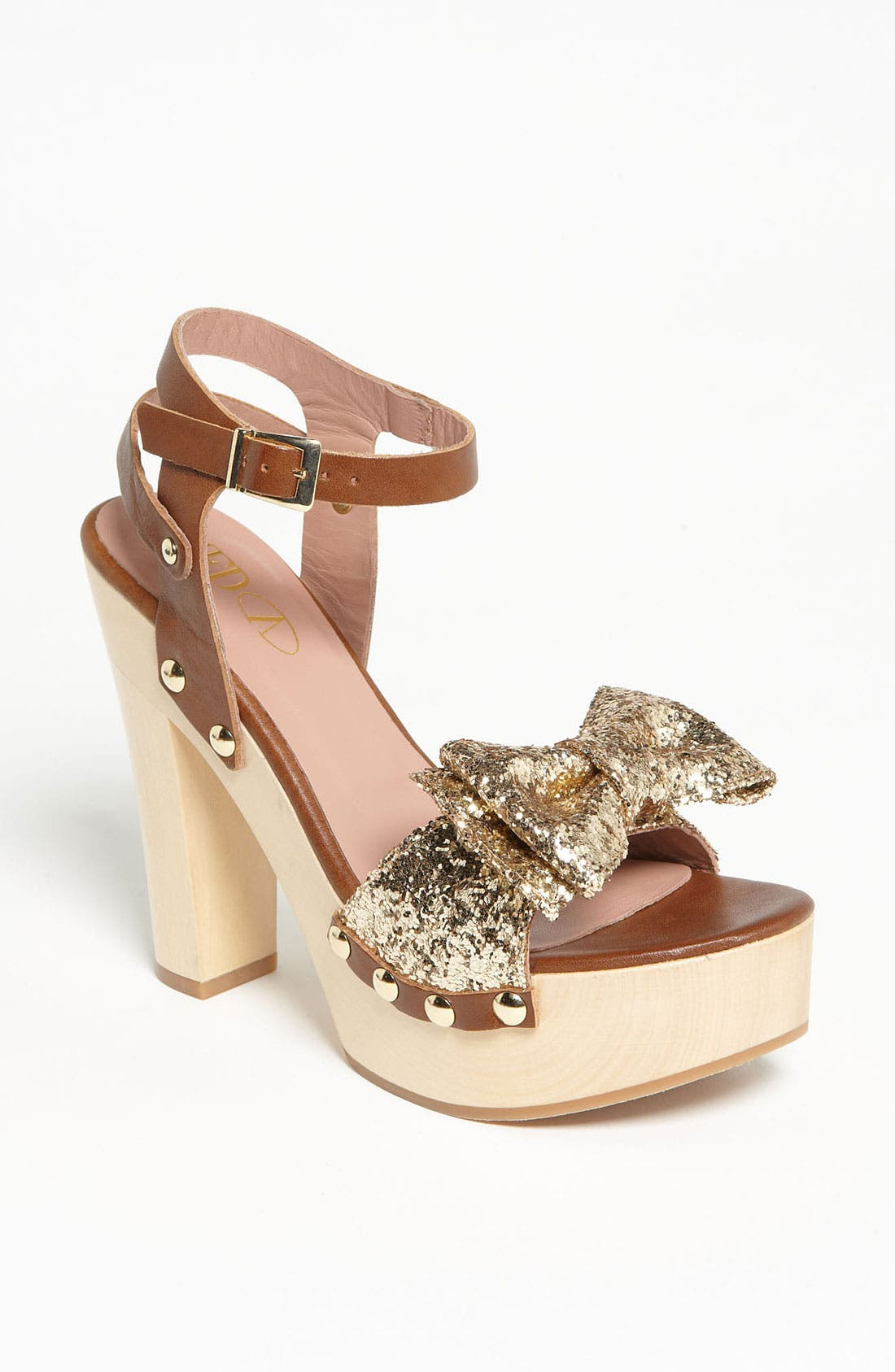 Alternate Image 1 Selected - RED Valentino Gold Glitter Sandal