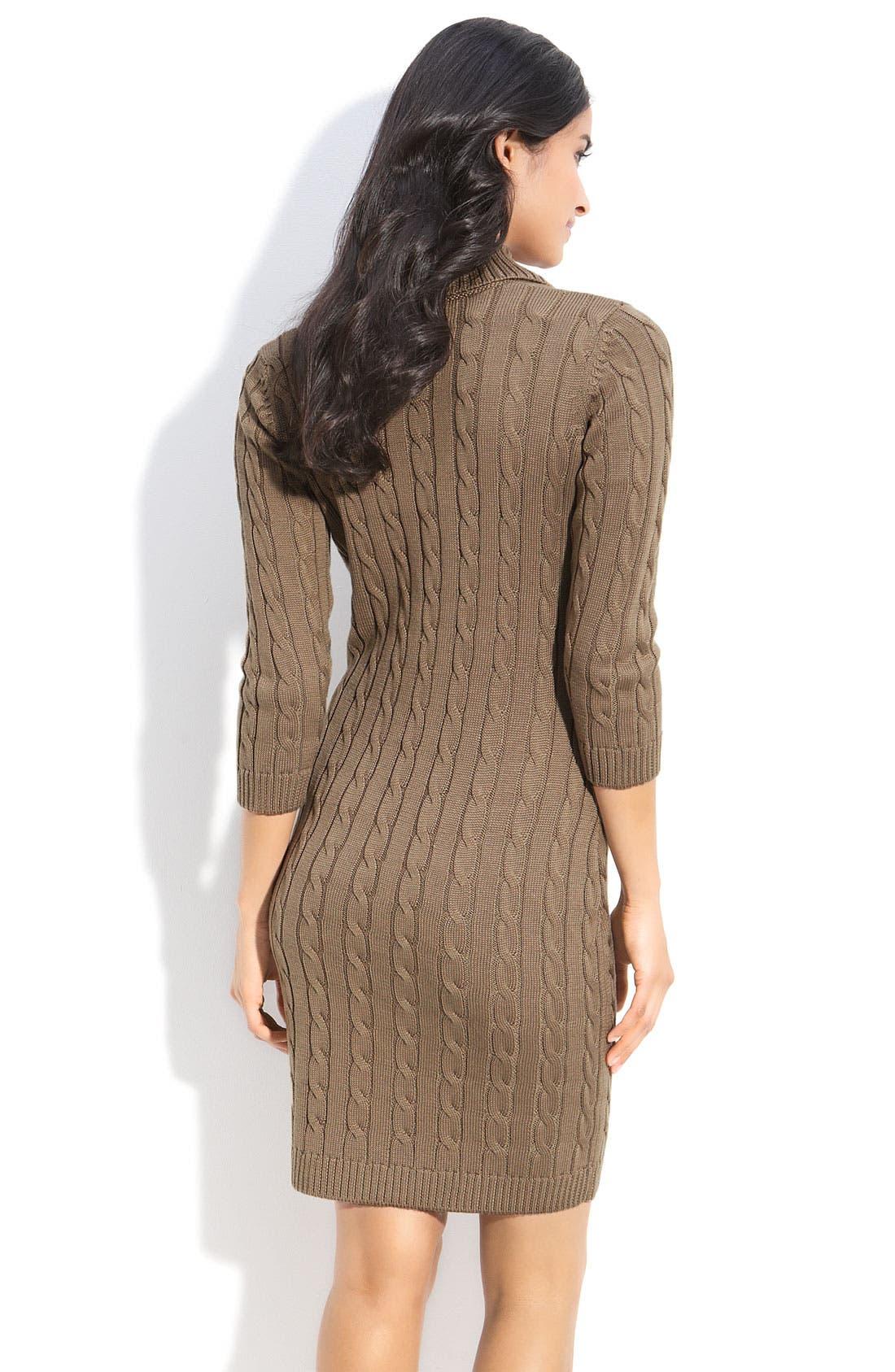Alternate Image 2  - Calvin Klein Faux Wrap Sweater Dress