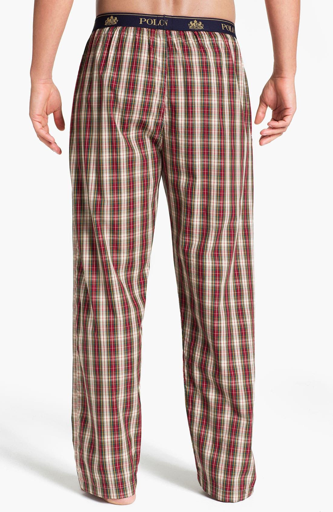 Alternate Image 2  - Polo Ralph Lauren Plaid Lounge Pants