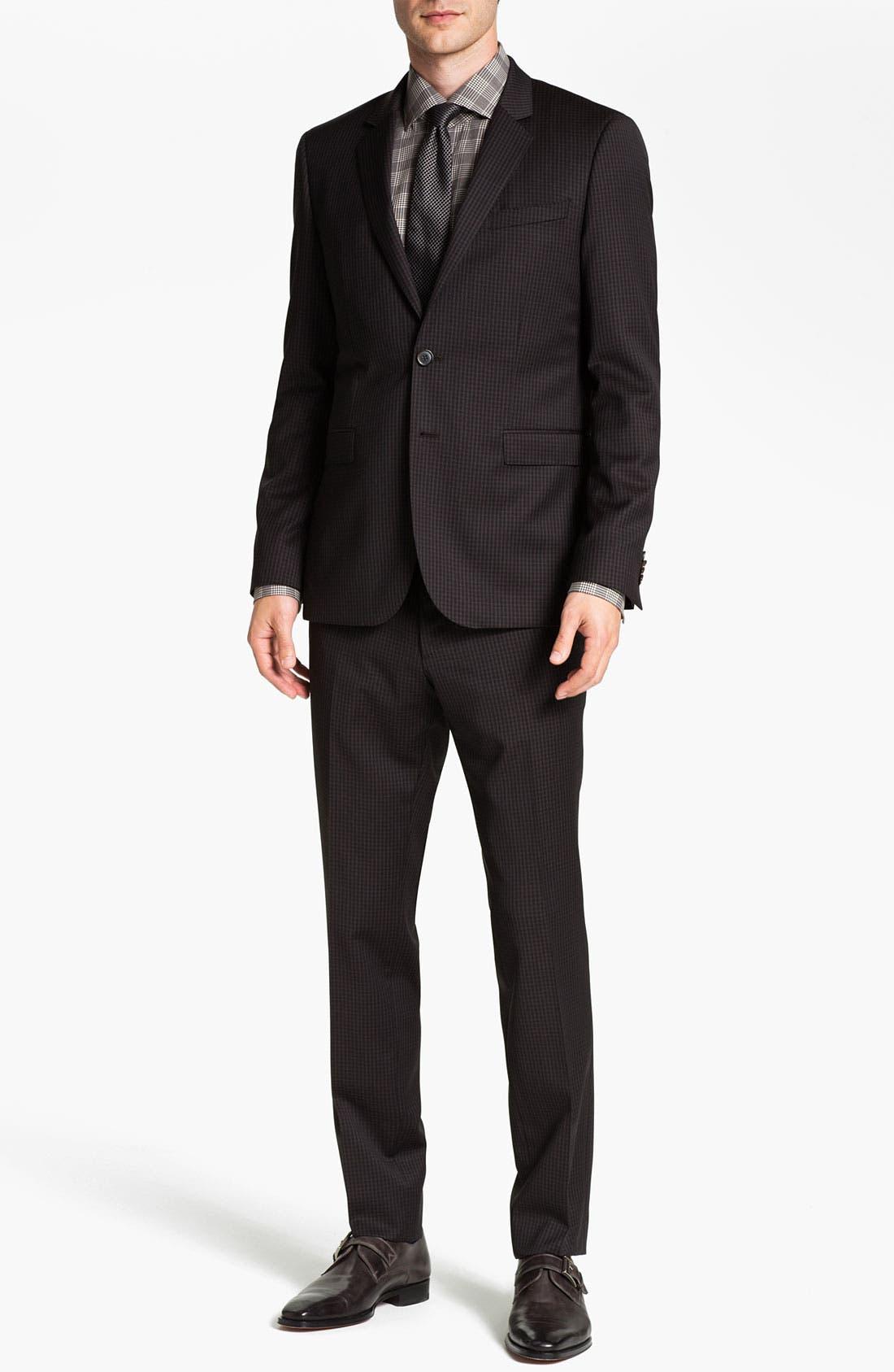 Alternate Image 2  - BOSS Black 'Ryan/Win' Extra Trim Fit Suit