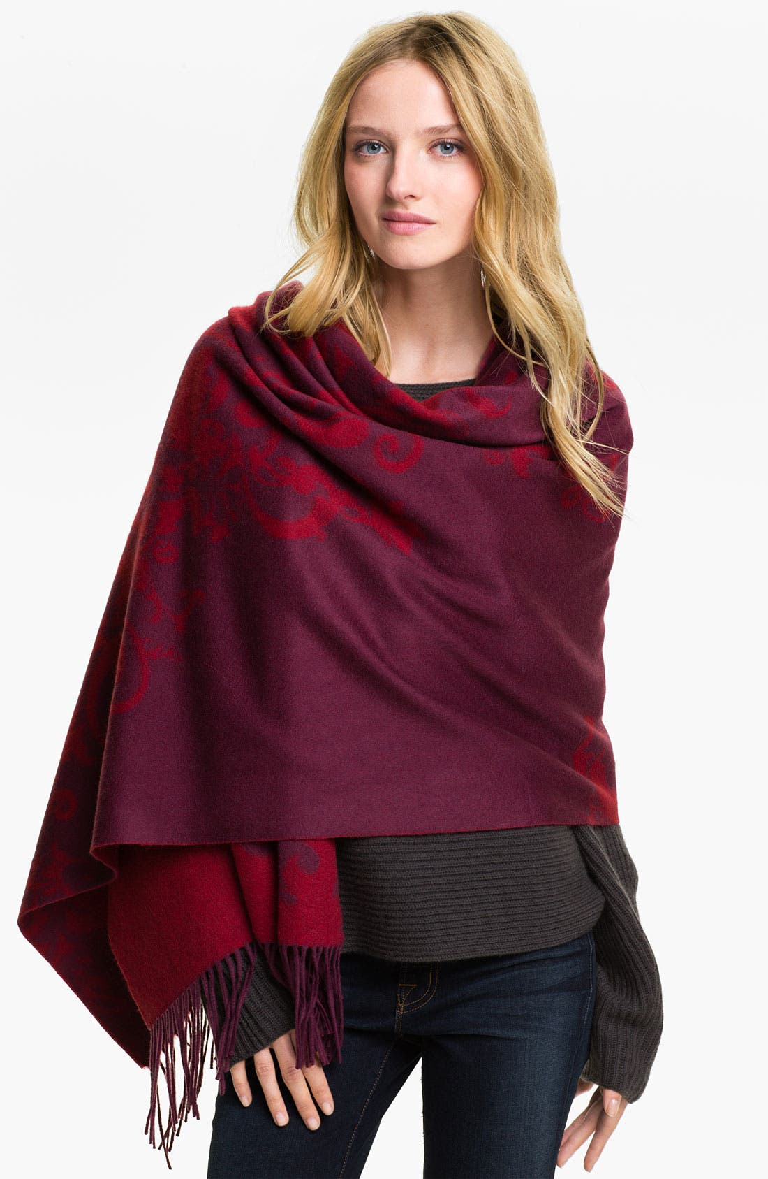Main Image - Nordstrom 'Corner Scroll' Cashmere Wrap