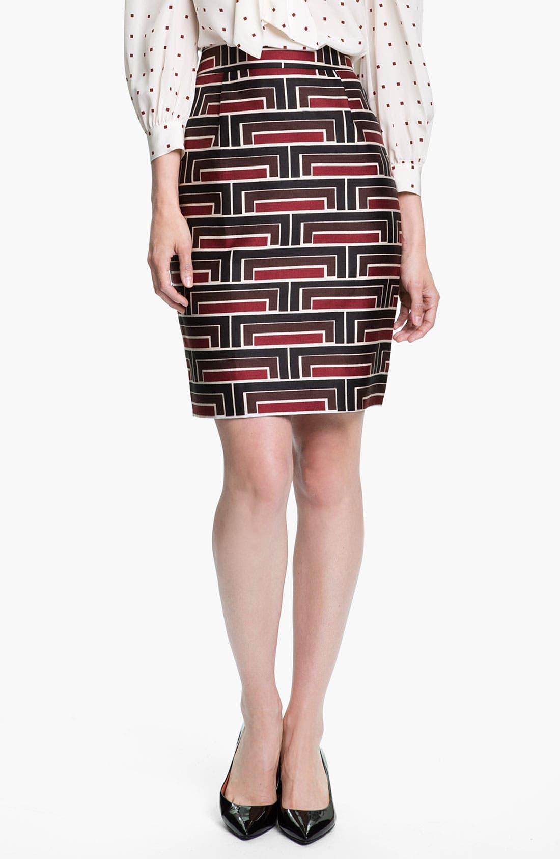 Main Image - kate spade new york 'jordan' print skirt