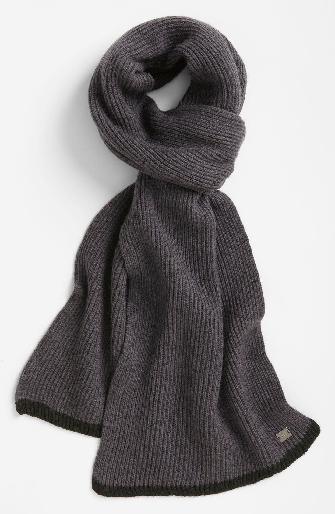 Alternate Image 1 Selected - BOSS Black 'Wotano' Wool Scarf