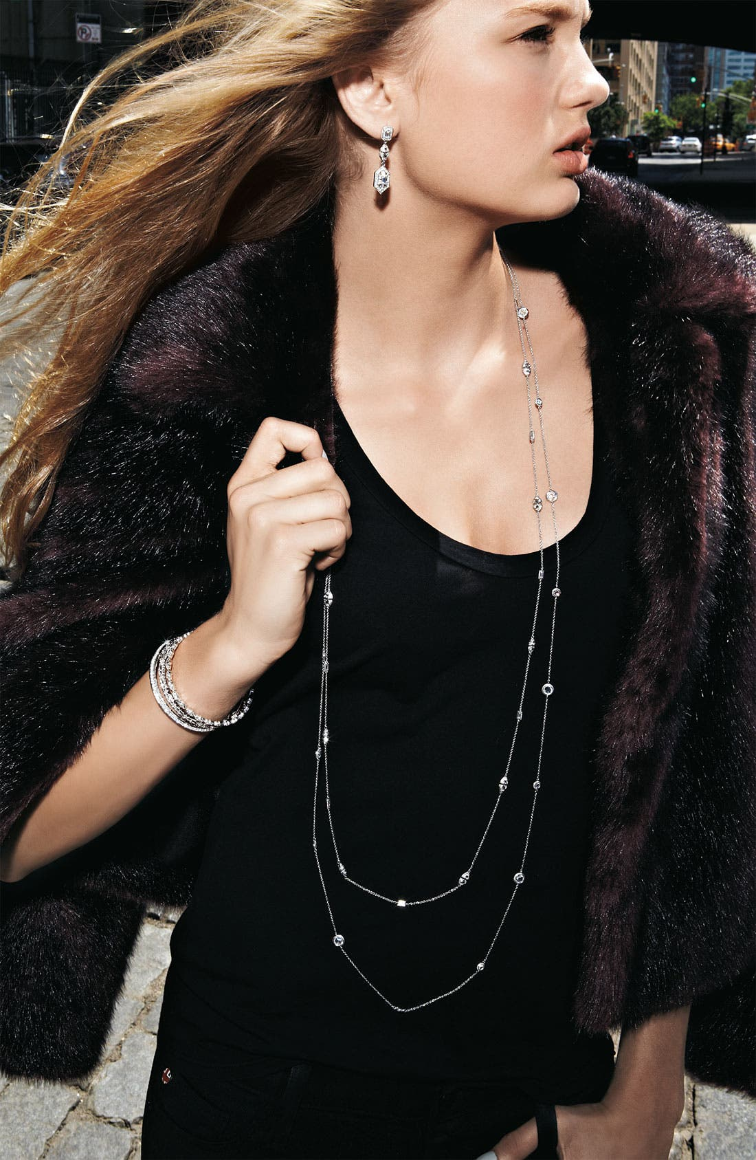 Alternate Image 3  - Nadri Long Bezel Station Necklace (Nordstrom Exclusive)