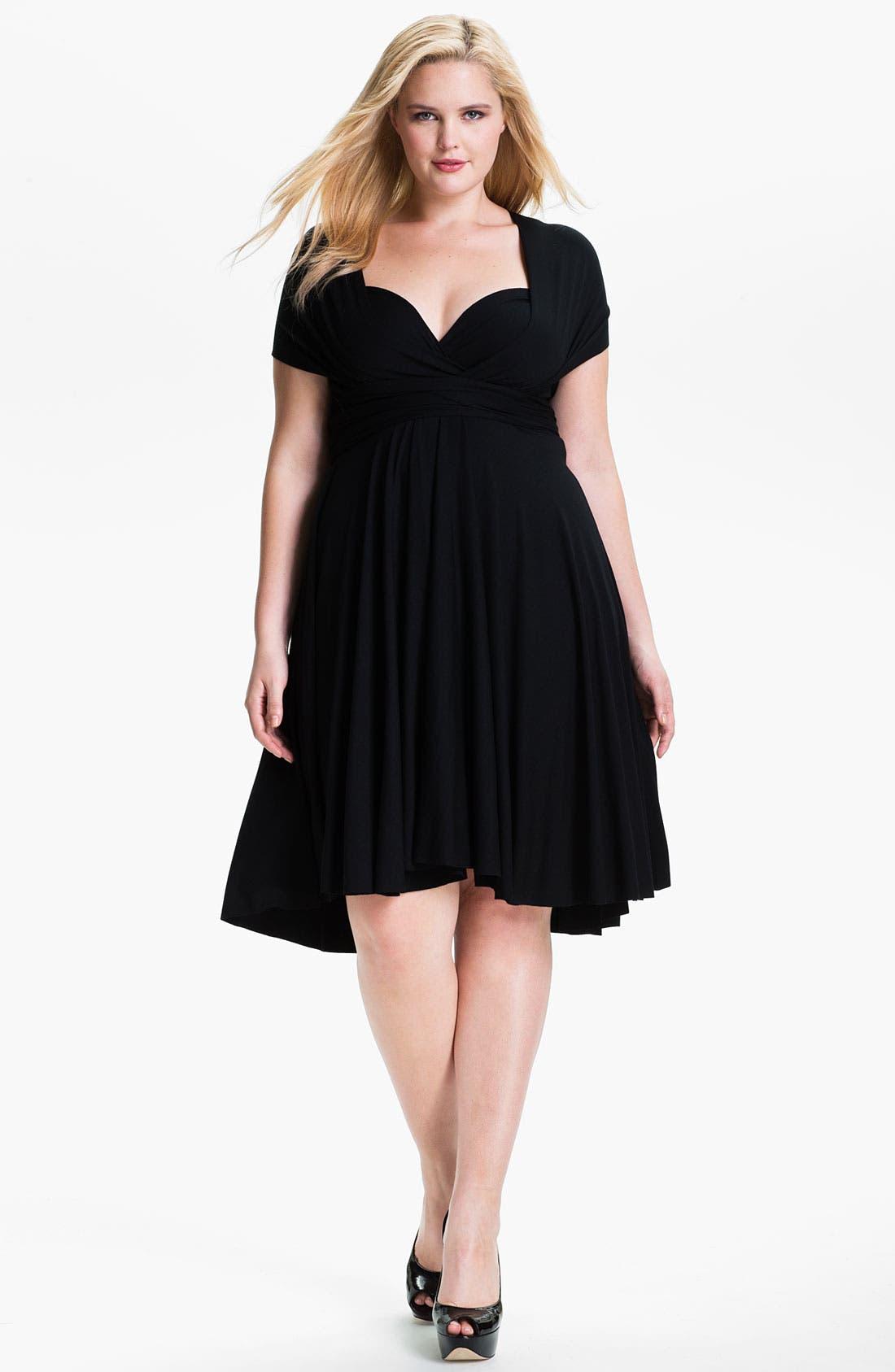Alternate Image 1 Selected - Monif C 'Marilyn' Convertible Jersey Dress (Plus)
