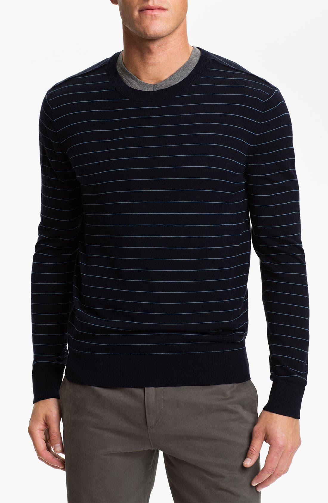 Alternate Image 1 Selected - Theory Stripe Wool Sweater