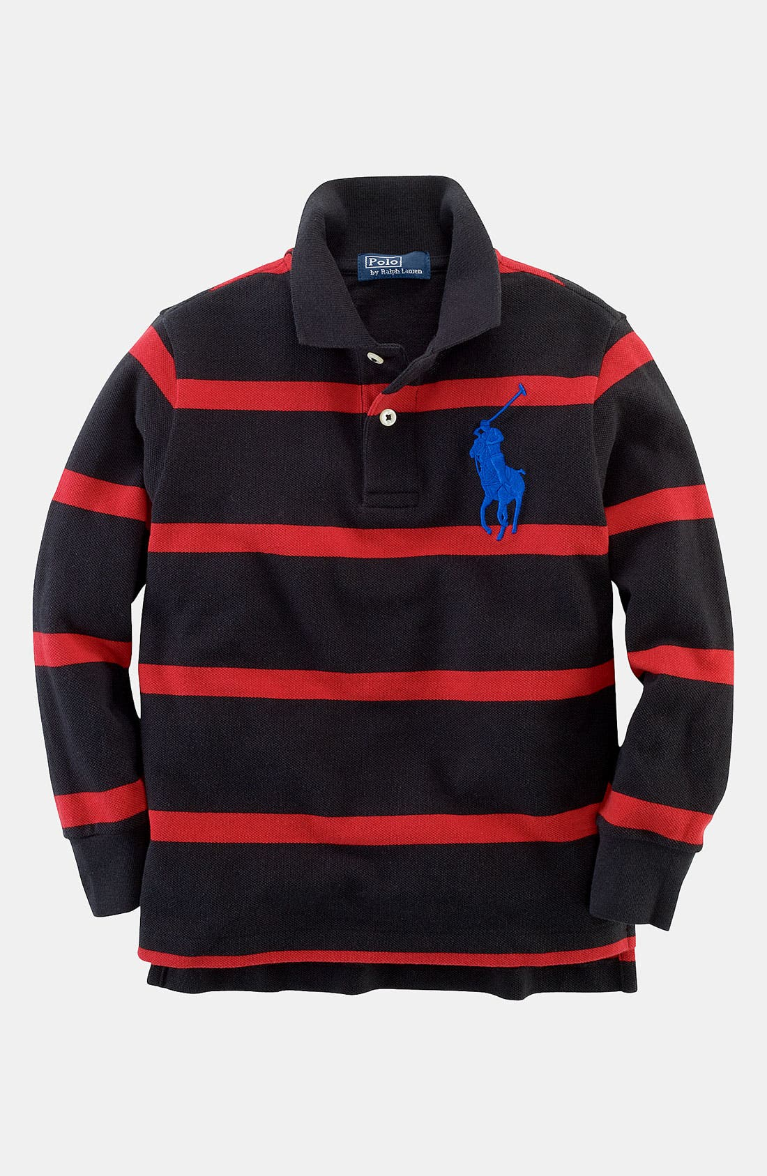 Alternate Image 1 Selected - Ralph Lauren Long Sleeve Polo (Toddler)