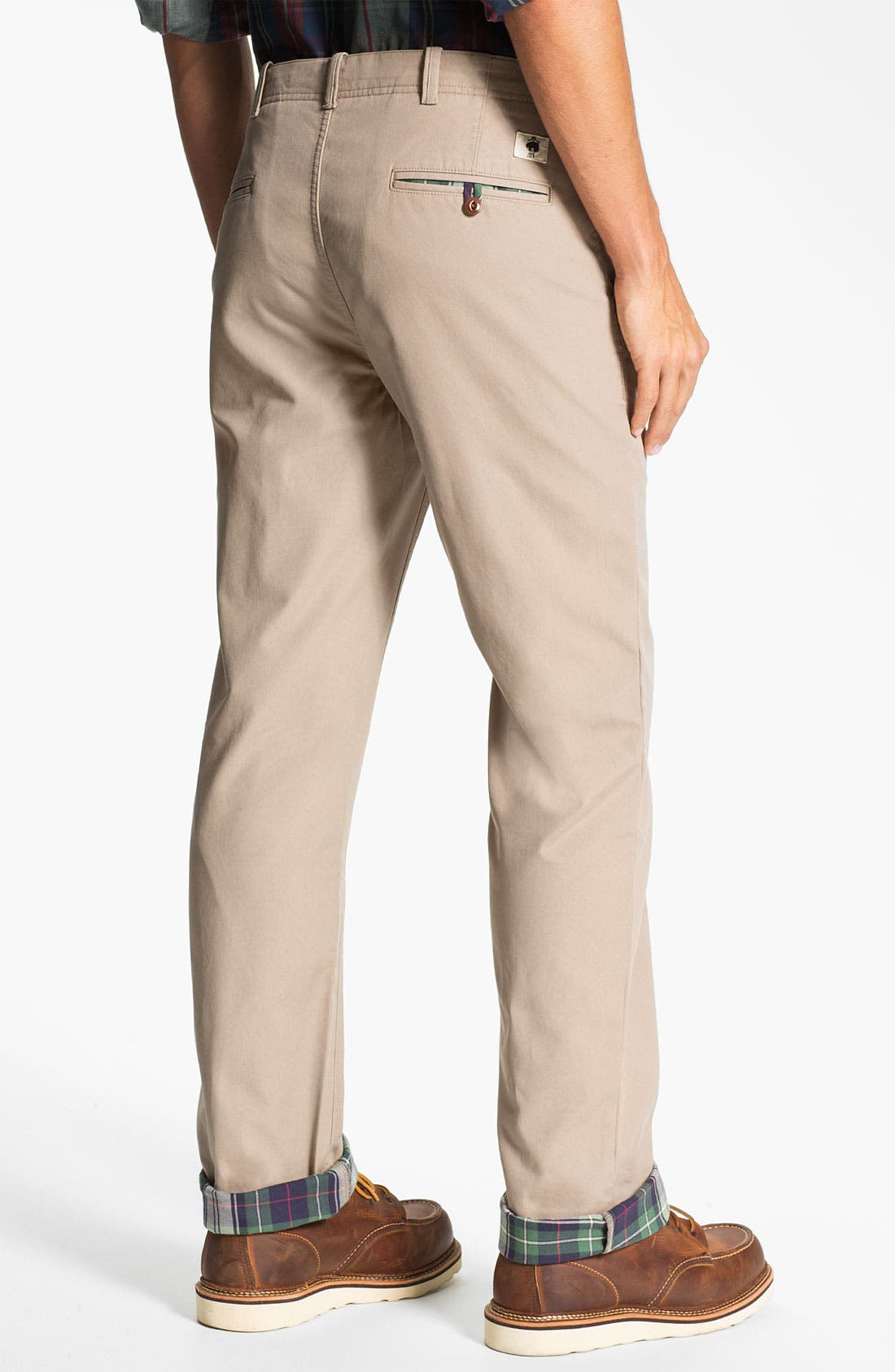 Alternate Image 2  - Brooks Brothers Flannel Lined Flat Front Chinos