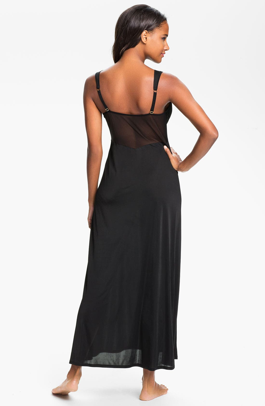 Alternate Image 2  - Natori 'Aphrodite' Sheer Back Nightgown