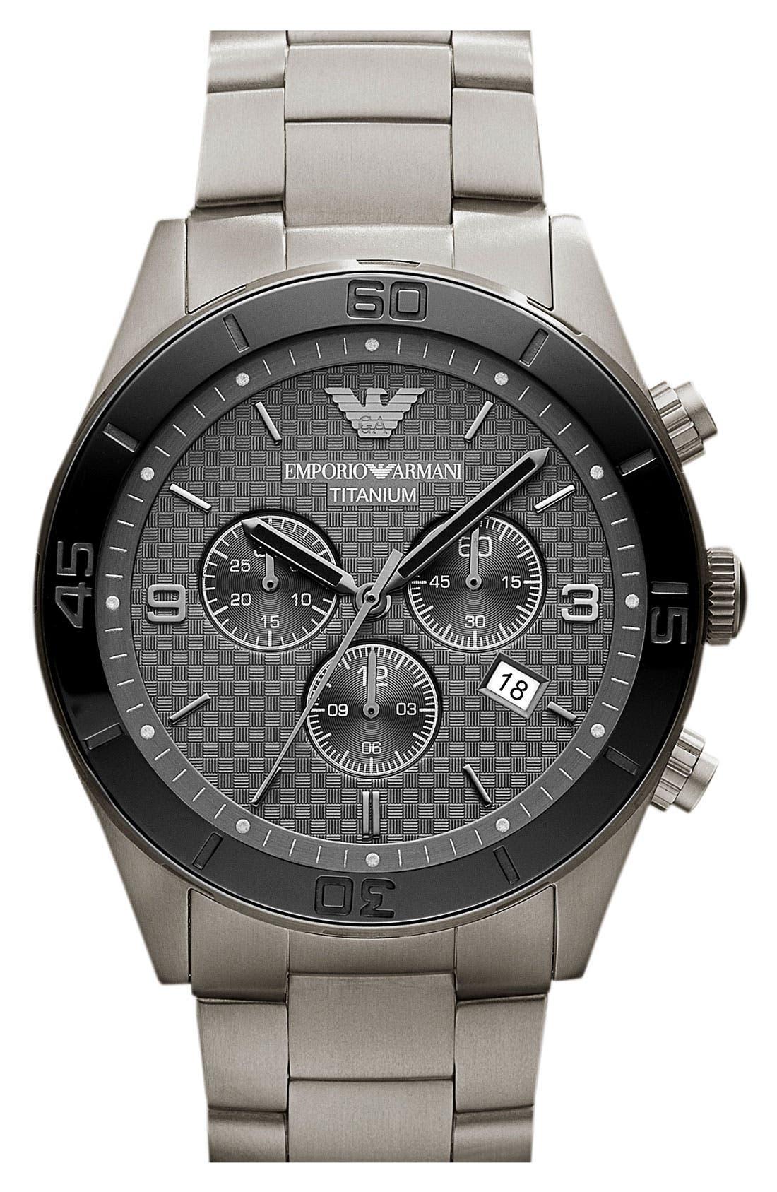 Alternate Image 1 Selected - Emporio Armani Titanium & Ceramic Bracelet Watch