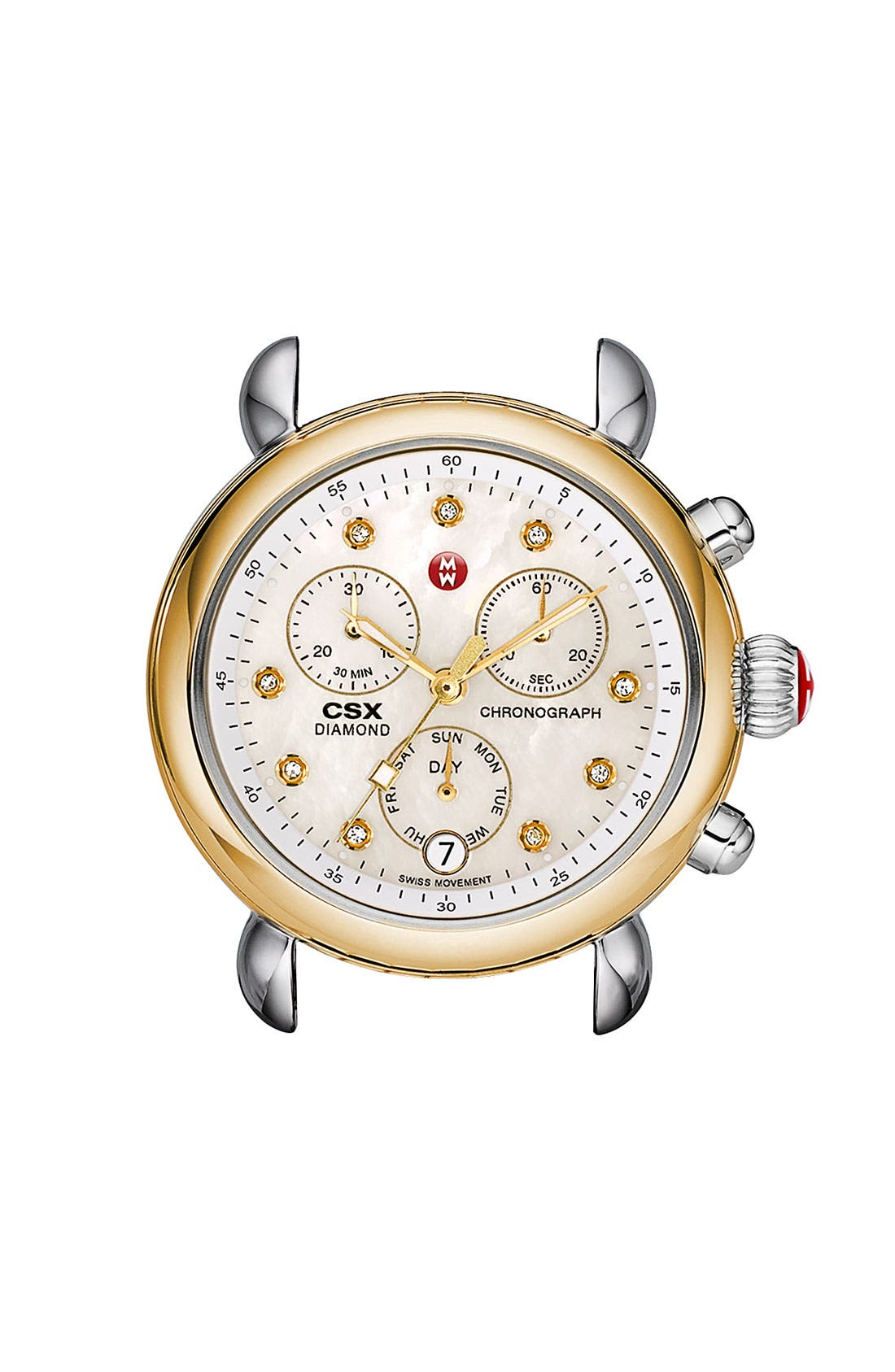 Alternate Image 1 Selected - MICHELE 'CSX-36' Diamond Dial Two-Tone Watch Case, 36mm