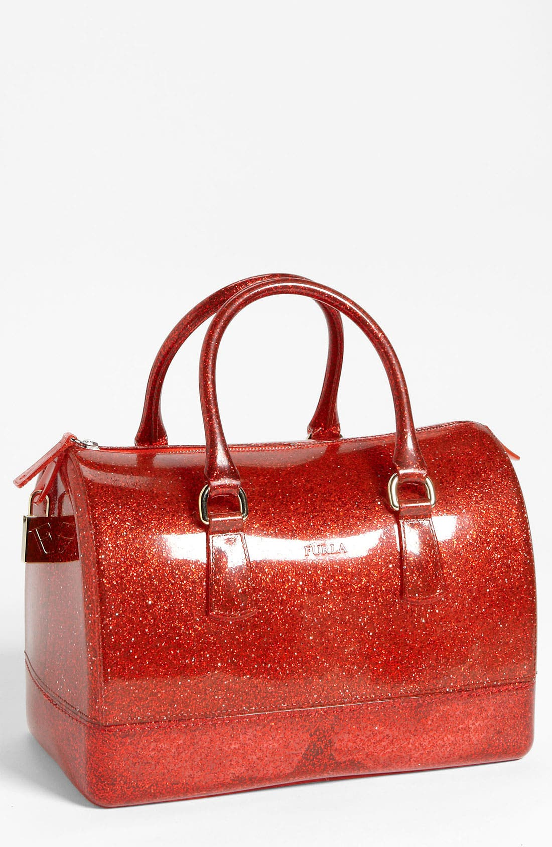 Main Image - Furla 'Candy - Glitter' Rubber Satchel