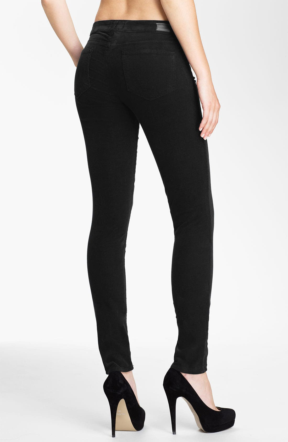 Alternate Image 2  - Paige Denim 'Verdugo' Stretch Denim Skinny Jeans (Black)