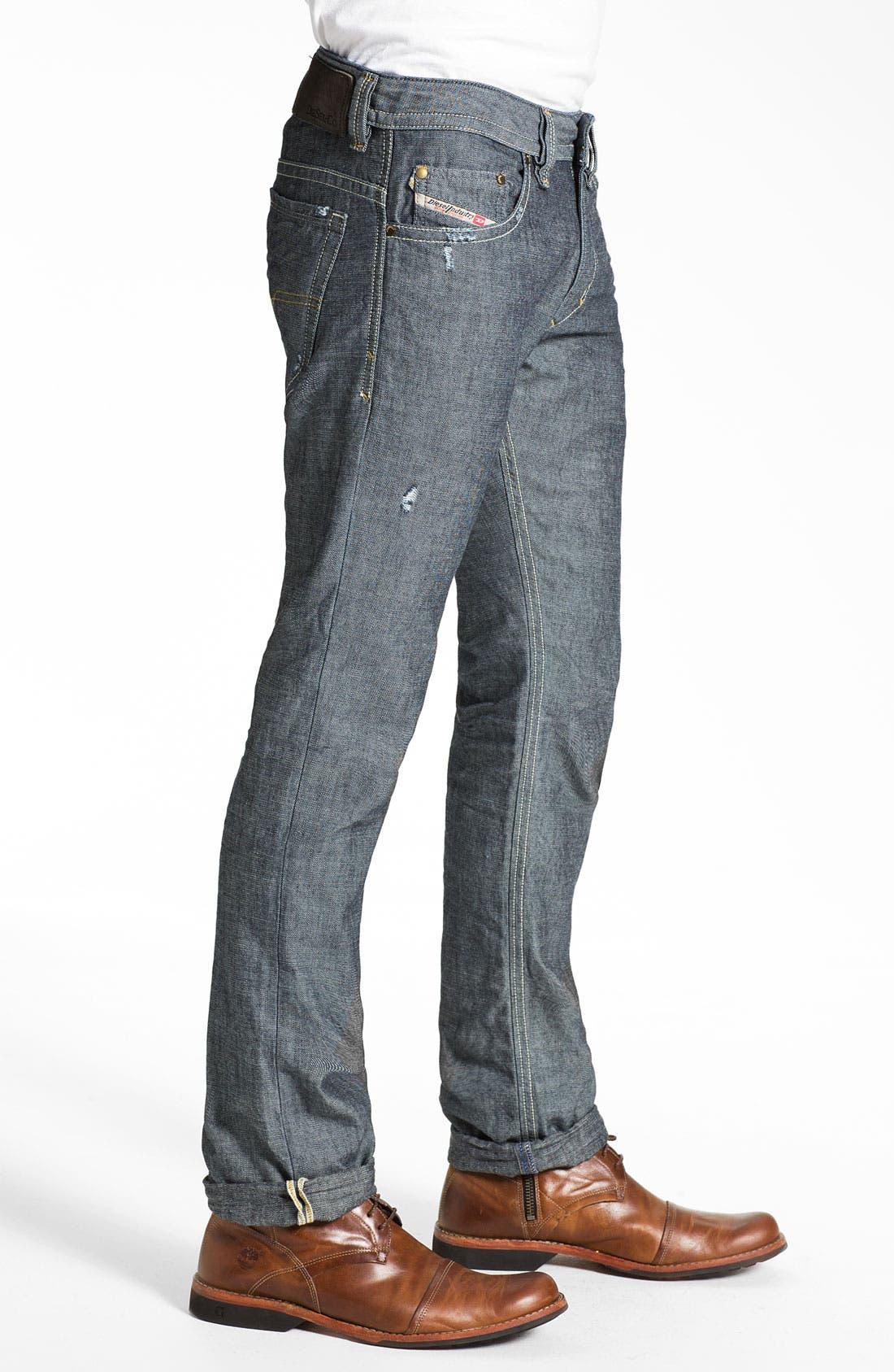 Alternate Image 3  - DIESEL® 'Thavar' Slim Straight Leg Jeans (0809D) (Online Exclusive)