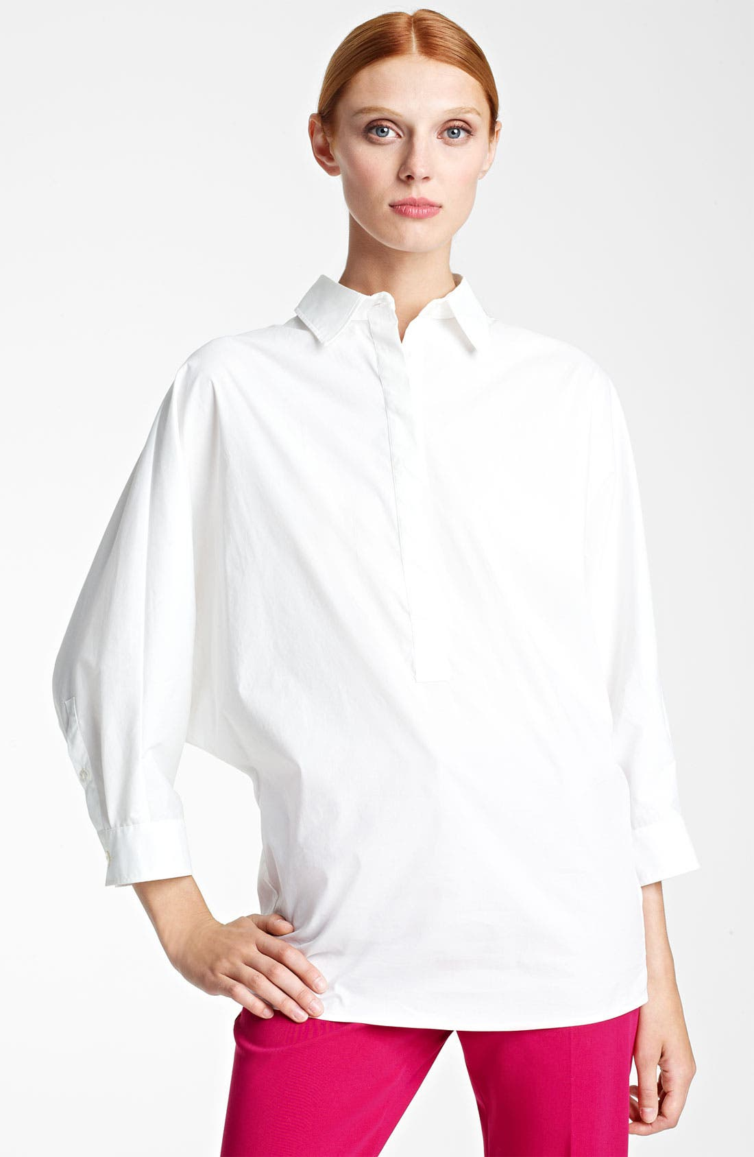 Alternate Image 1 Selected - Max Mara 'Song' Full Sleeve Poplin Blouse