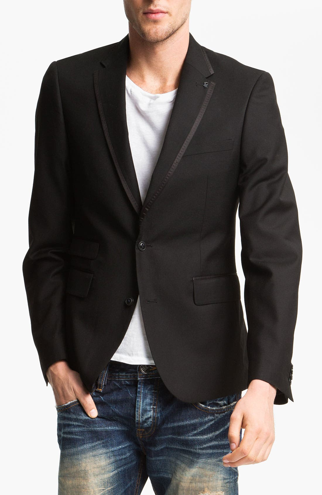 Alternate Image 1 Selected - J.C. Rags Extra Trim Fit Twill Blazer