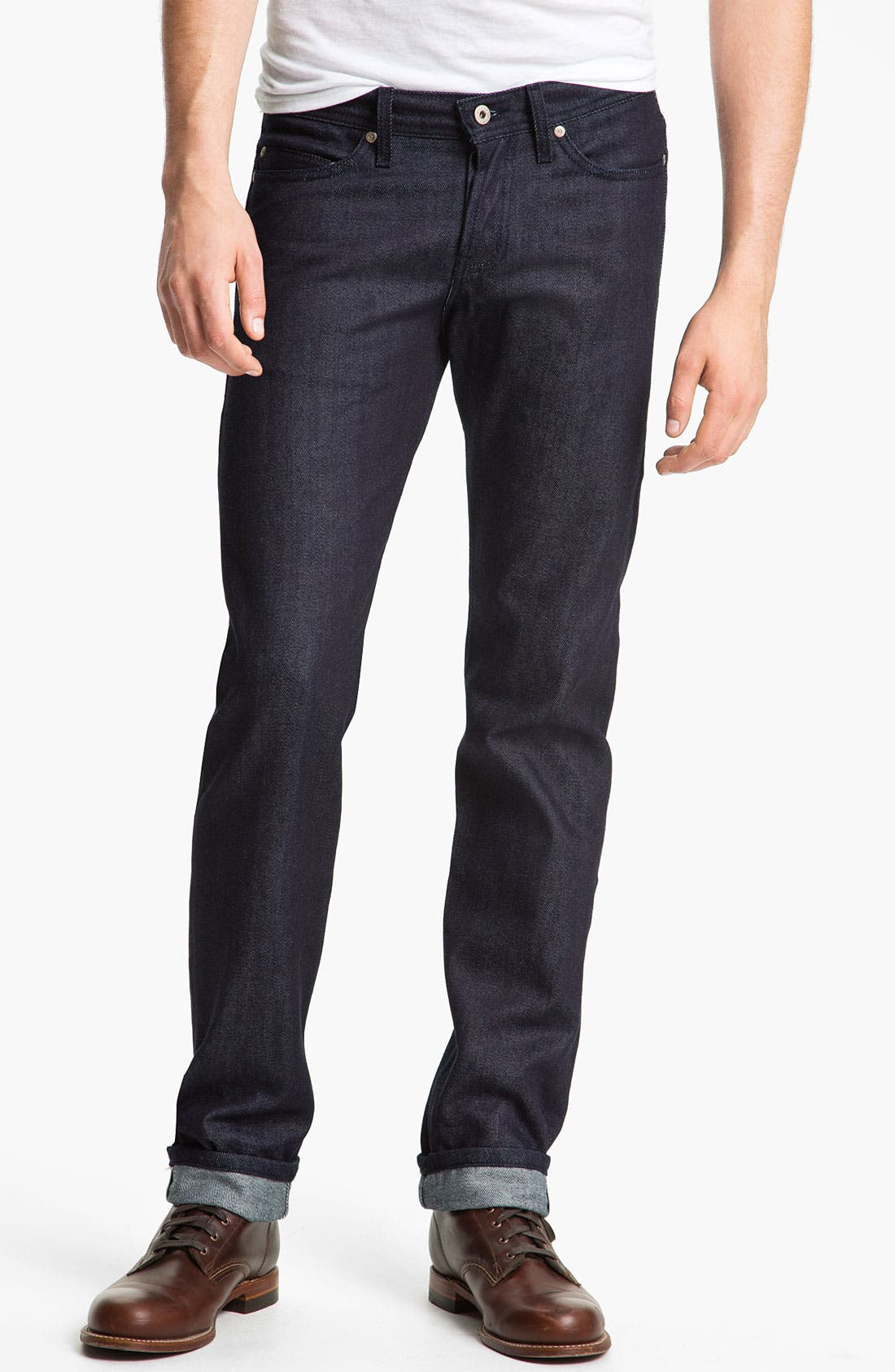 Alternate Image 2  - Naked & Famous Denim 'Weird Guy' Slim Straight Leg Selvedge Jeans (Indigo)