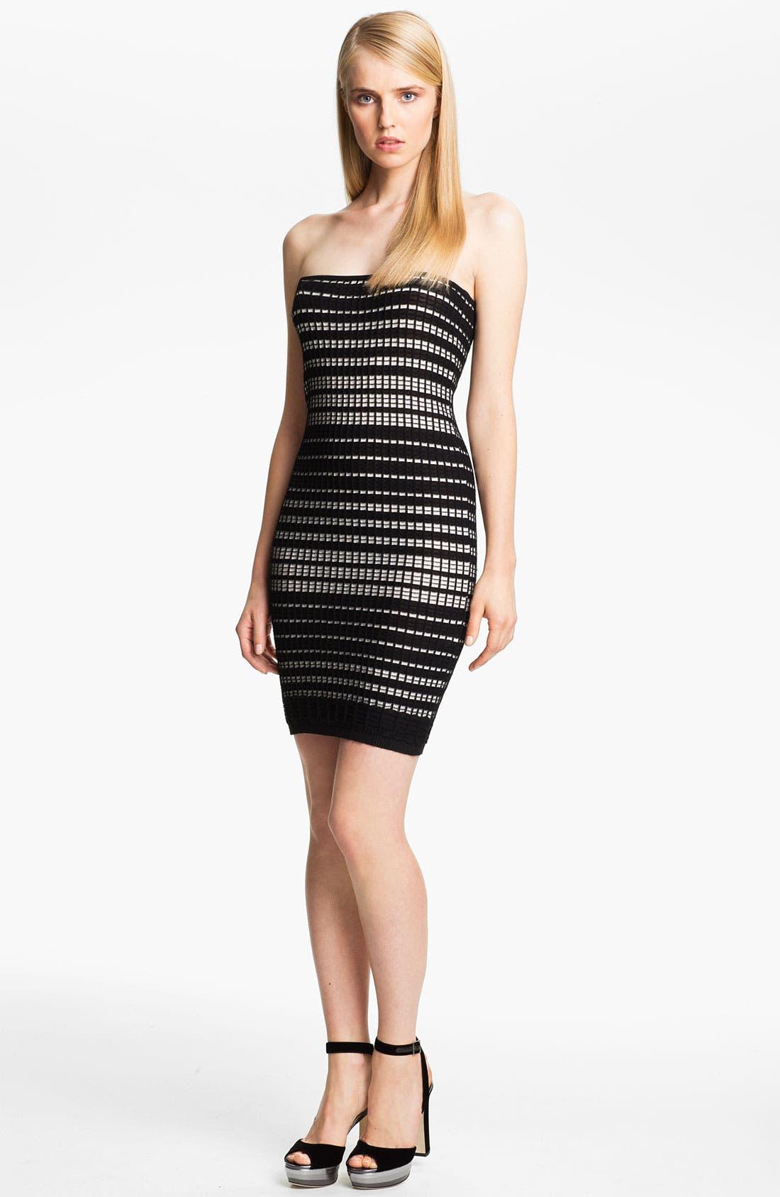 Alternate Image 1 Selected - M Missoni Plaid Stitch Tube Dress