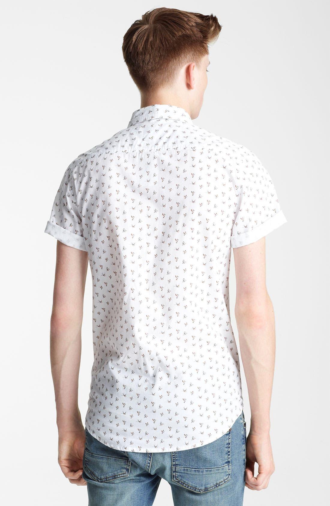 Alternate Image 2  - Topman Bird Motif Woven Shirt