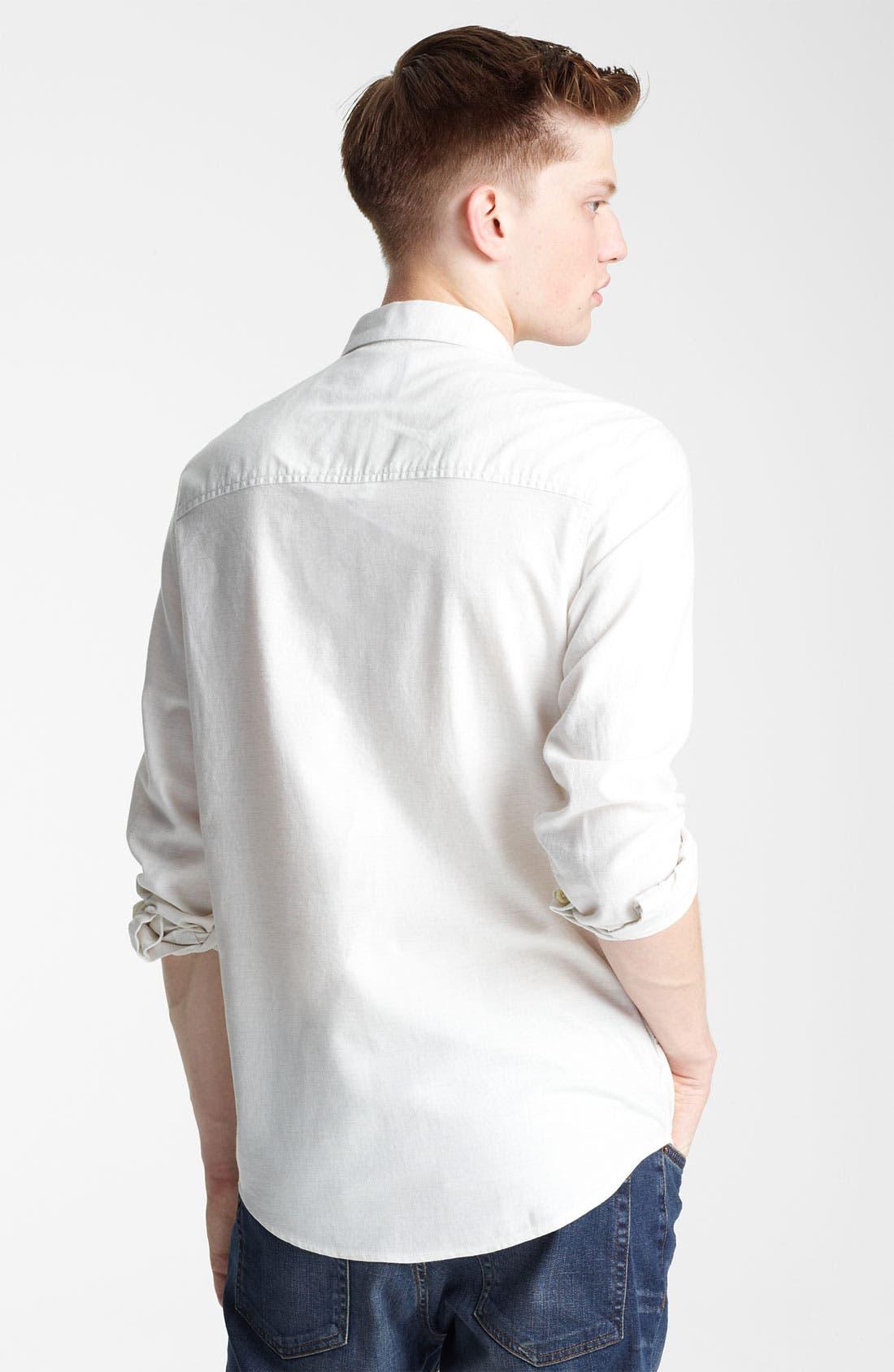 Alternate Image 2  - Topman Cotton Flannel Shirt