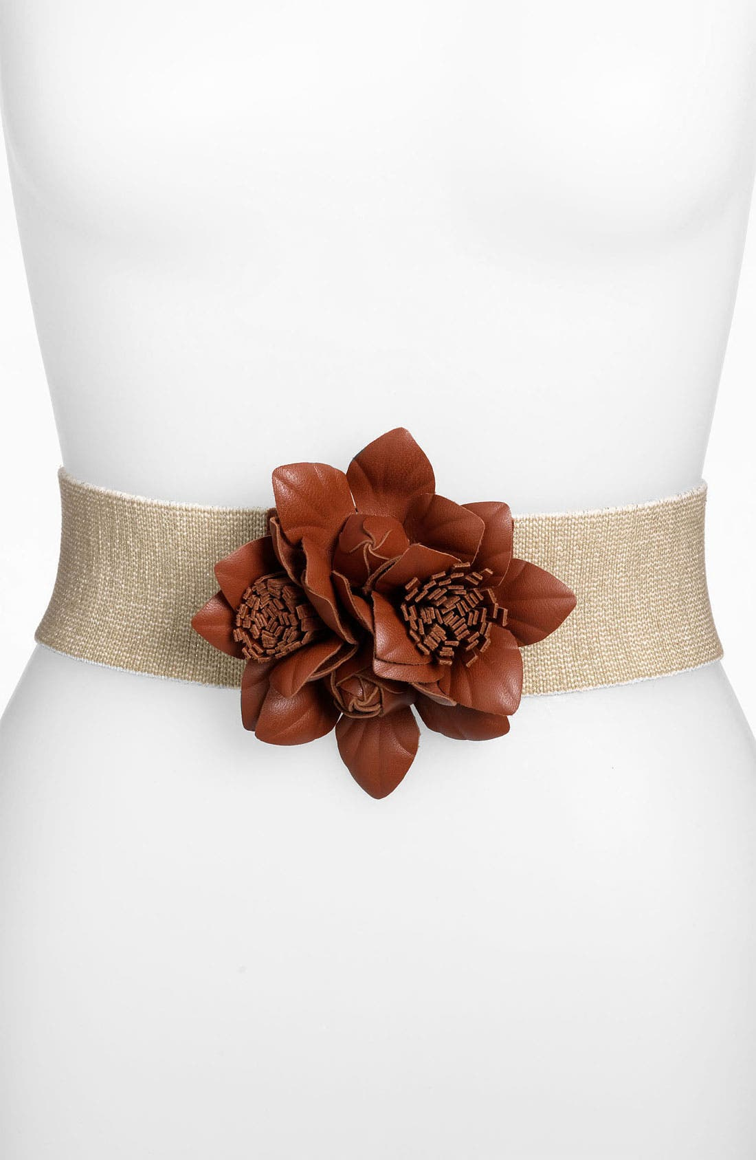 Main Image - Hinge® Sparkle Floral Stretch Belt