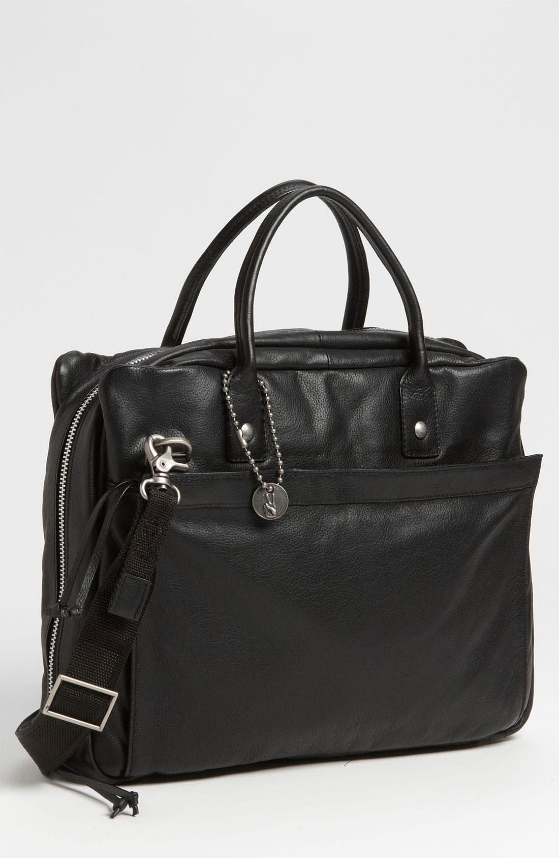Main Image - John Varvatos Star USA Leather Briefcase