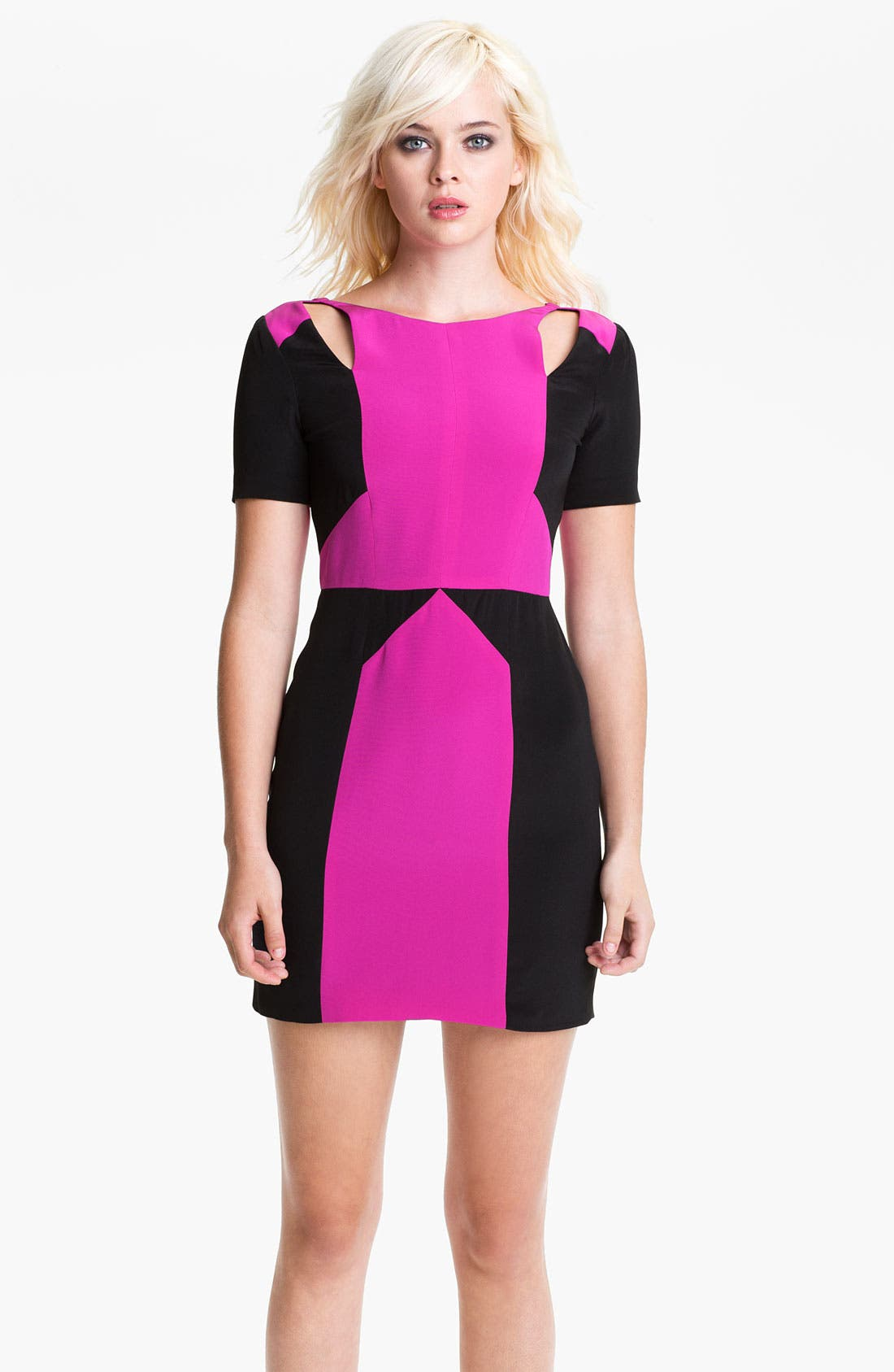 Alternate Image 1 Selected - Rebecca Minkoff 'Crystal' Colorblock Dress