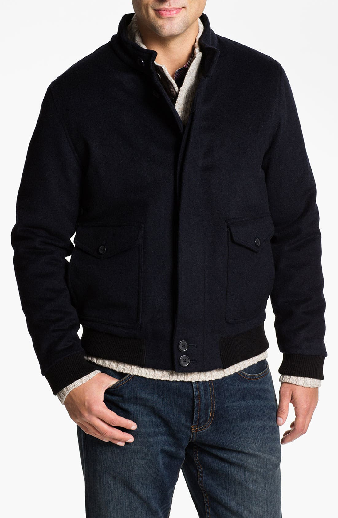 Main Image - Hart Schaffner Marx Wool & Cashmere Blouson Jacket