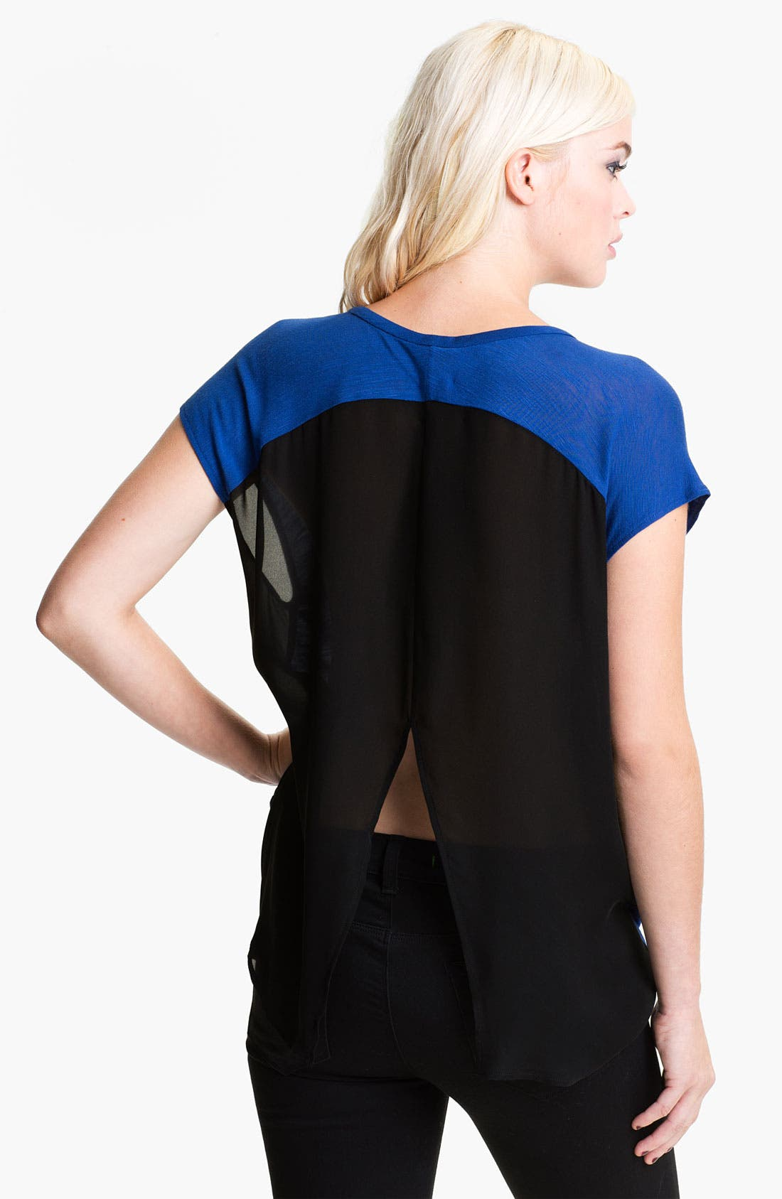 Alternate Image 2  - Rebecca Minkoff 'Eda' Colorblock Swallow Tail Tee