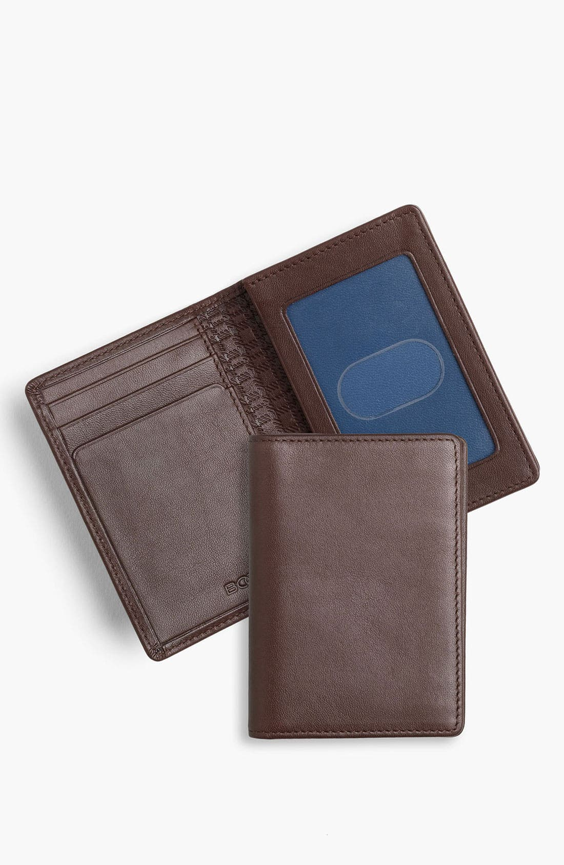 Alternate Image 1 Selected - Boconi 'Deluxe' Calfskin Card Case