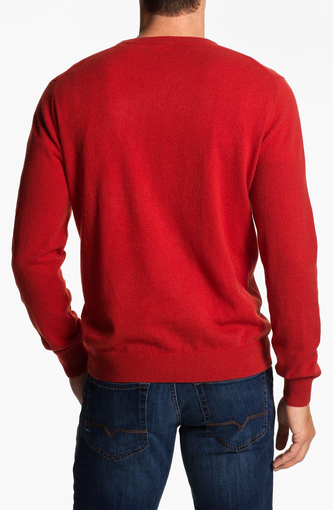 Alternate Image 2  - Lacoste Crewneck Wool Sweater