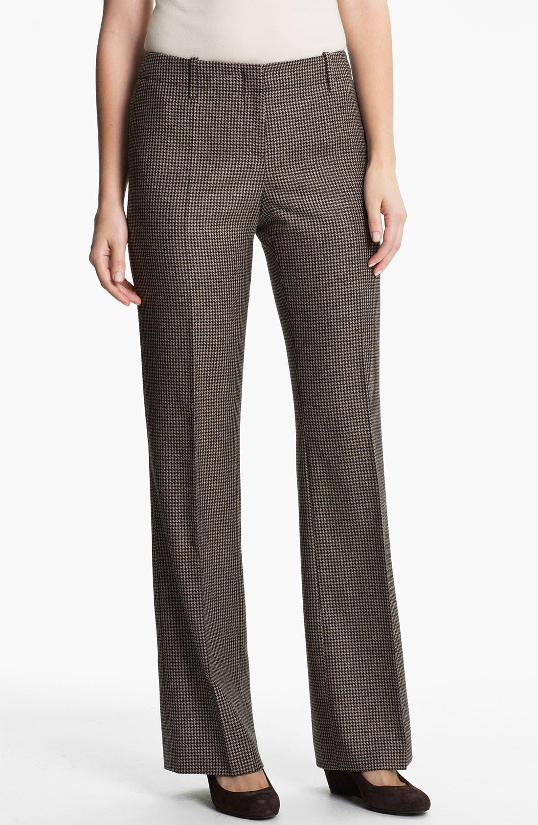Alternate Image 1 Selected - BOSS HUGO BOSS 'Tulia4' Check Pattern Trousers