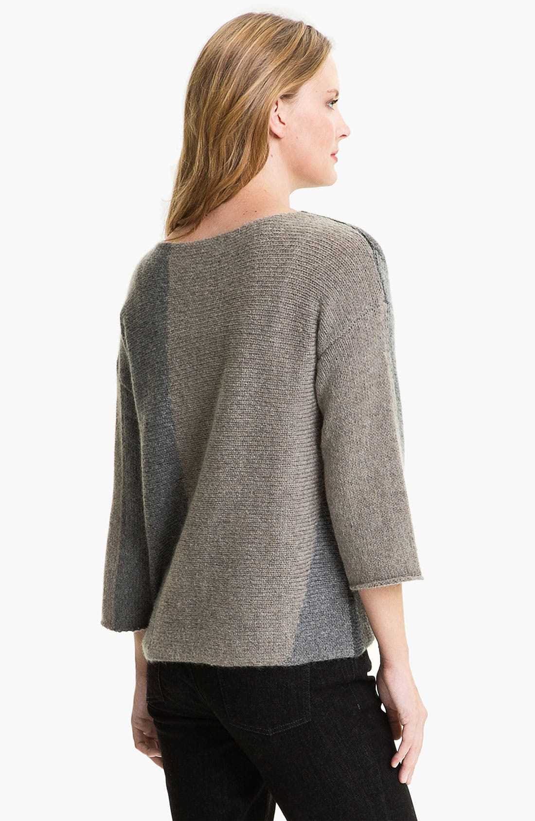 Alternate Image 2  - Eileen Fisher Colorblocked Sweater