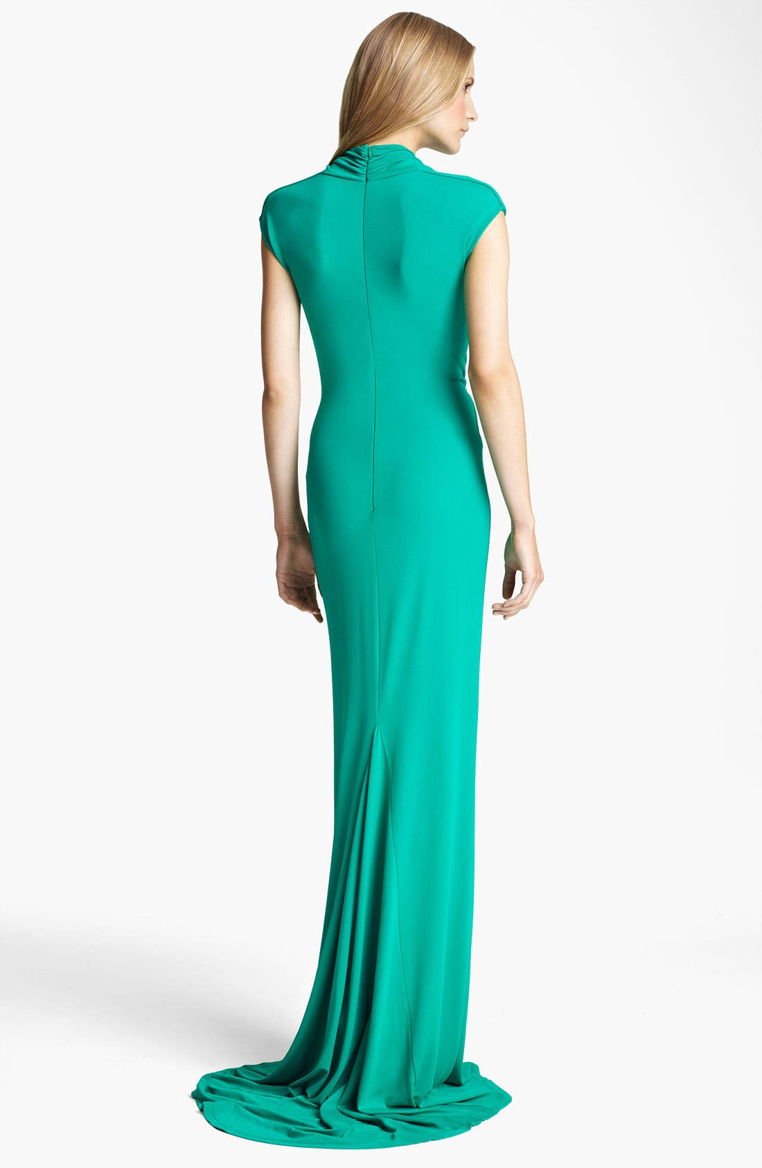 Alternate Image 2  - Michael Kors Cowl Neck Matte Jersey Gown