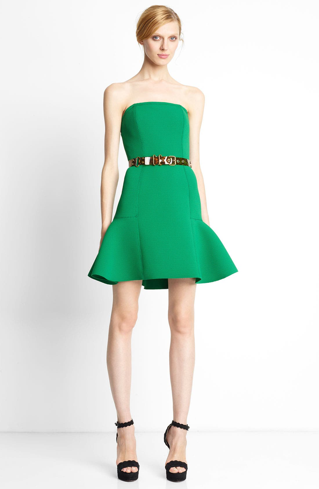 Alternate Image 1 Selected - Lanvin Strapless Piqué Dress