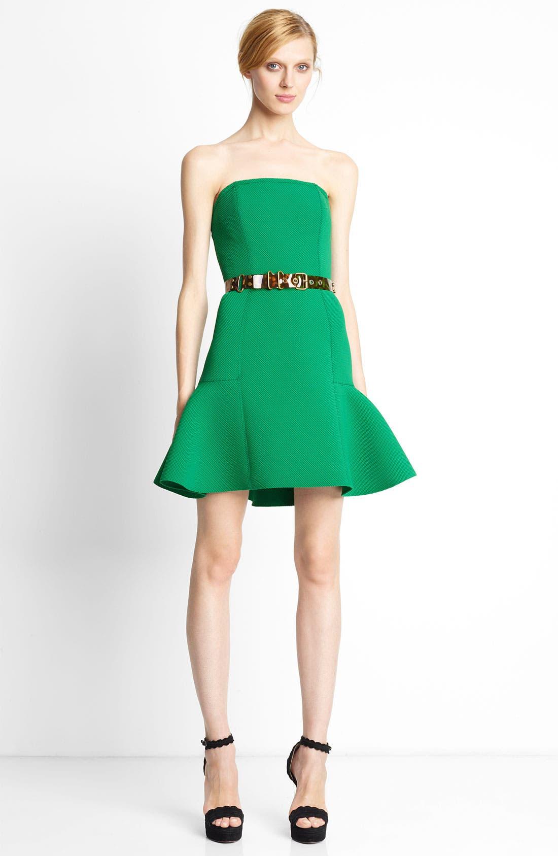 Main Image - Lanvin Strapless Piqué Dress