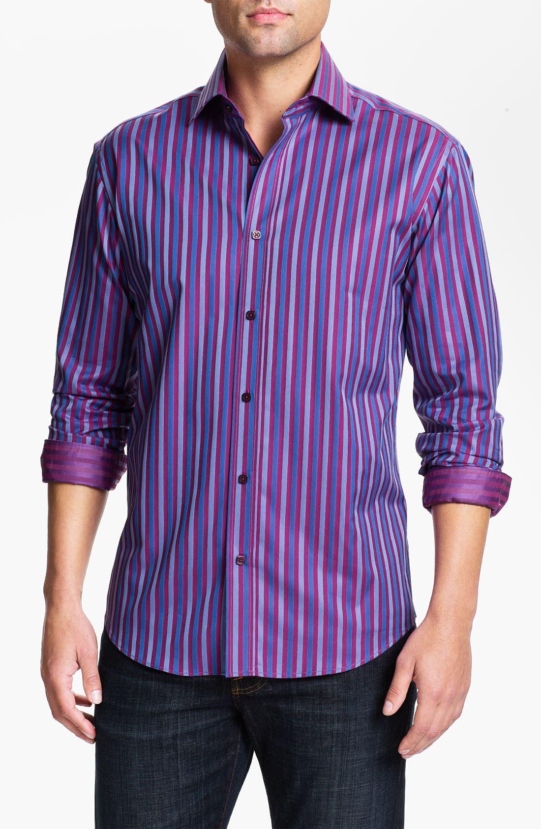Alternate Image 1 Selected - Bugatchi Uomo Shaped Fit Sport Shirt