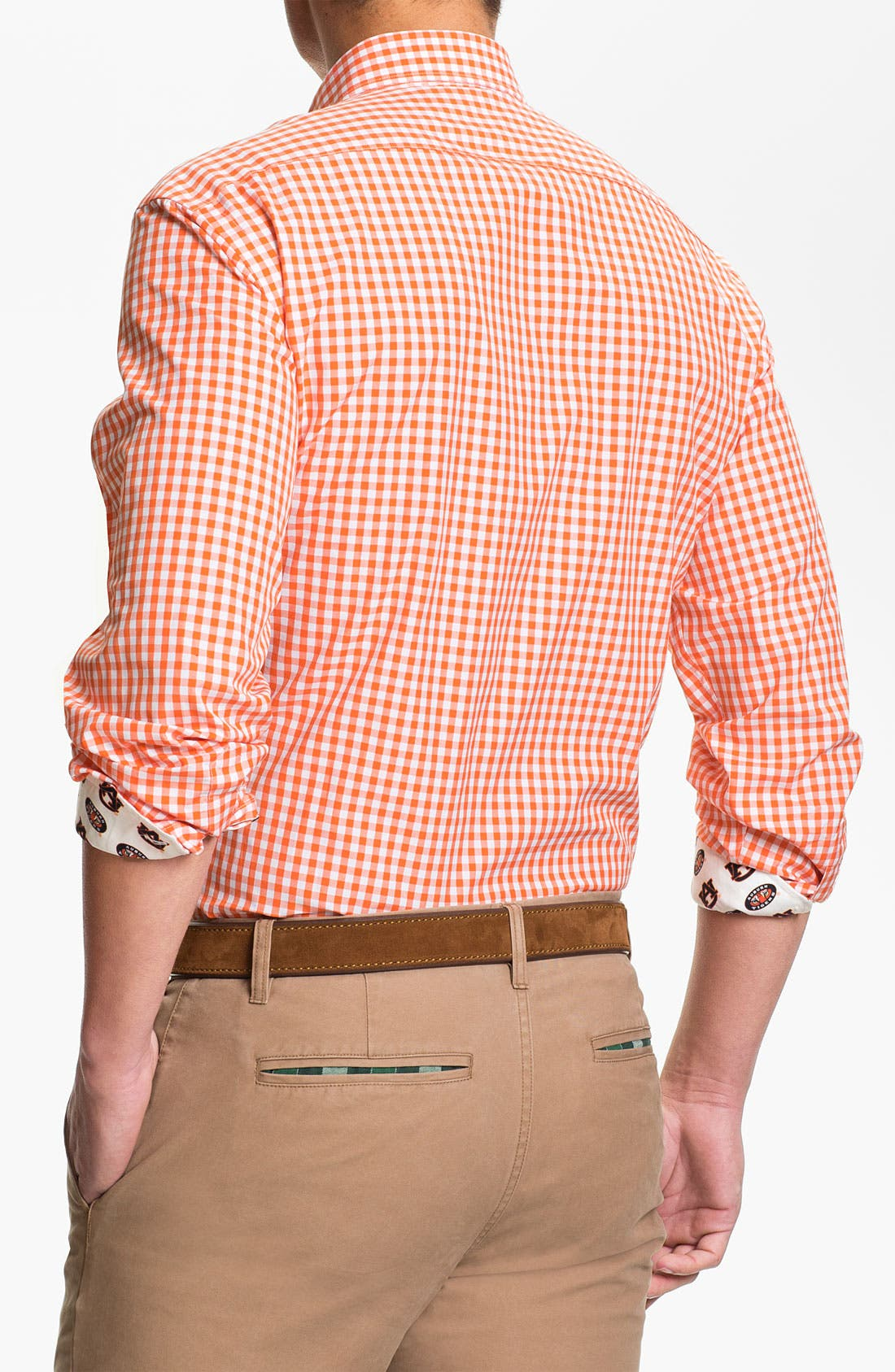 Alternate Image 2  - Thomas Dean 'Auburn University' Regular Fit Sport Shirt (Online Only)