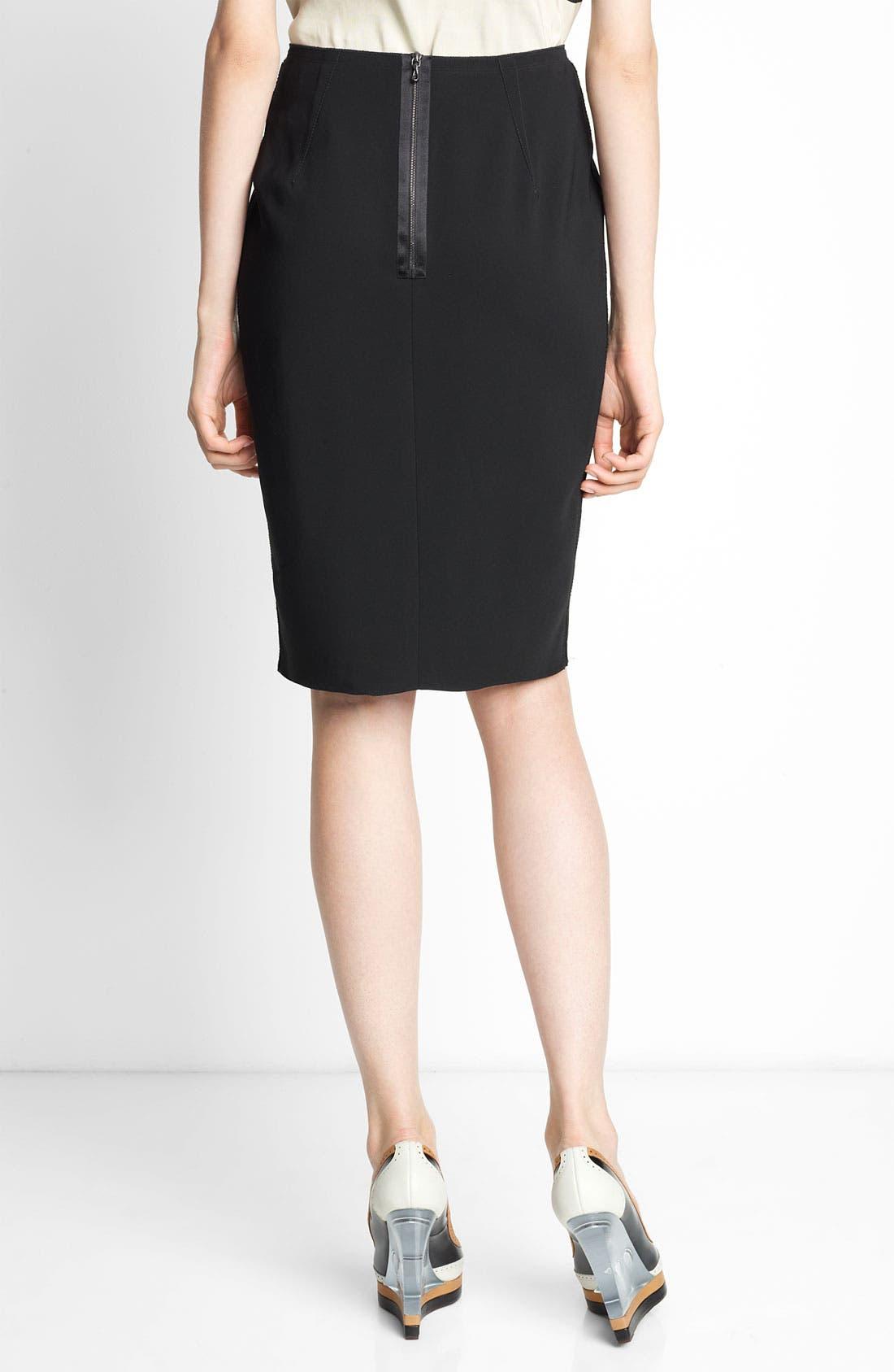 Alternate Image 2  - Lanvin Grosgrain Inset Crepe Skirt