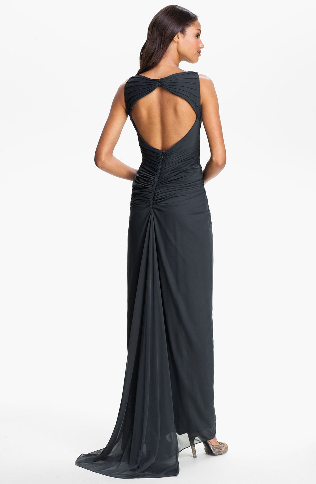 Alternate Image 2  - Adrianna Papell Embellished Twist Front Open Back Gown