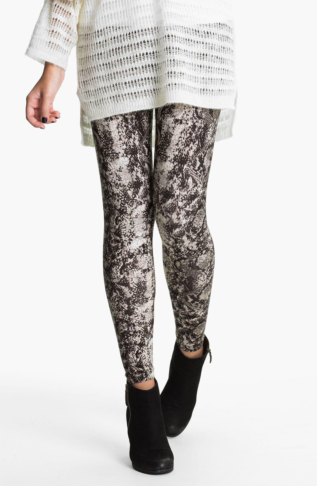 Main Image - Mimi Chica Print Leggings (Juniors)
