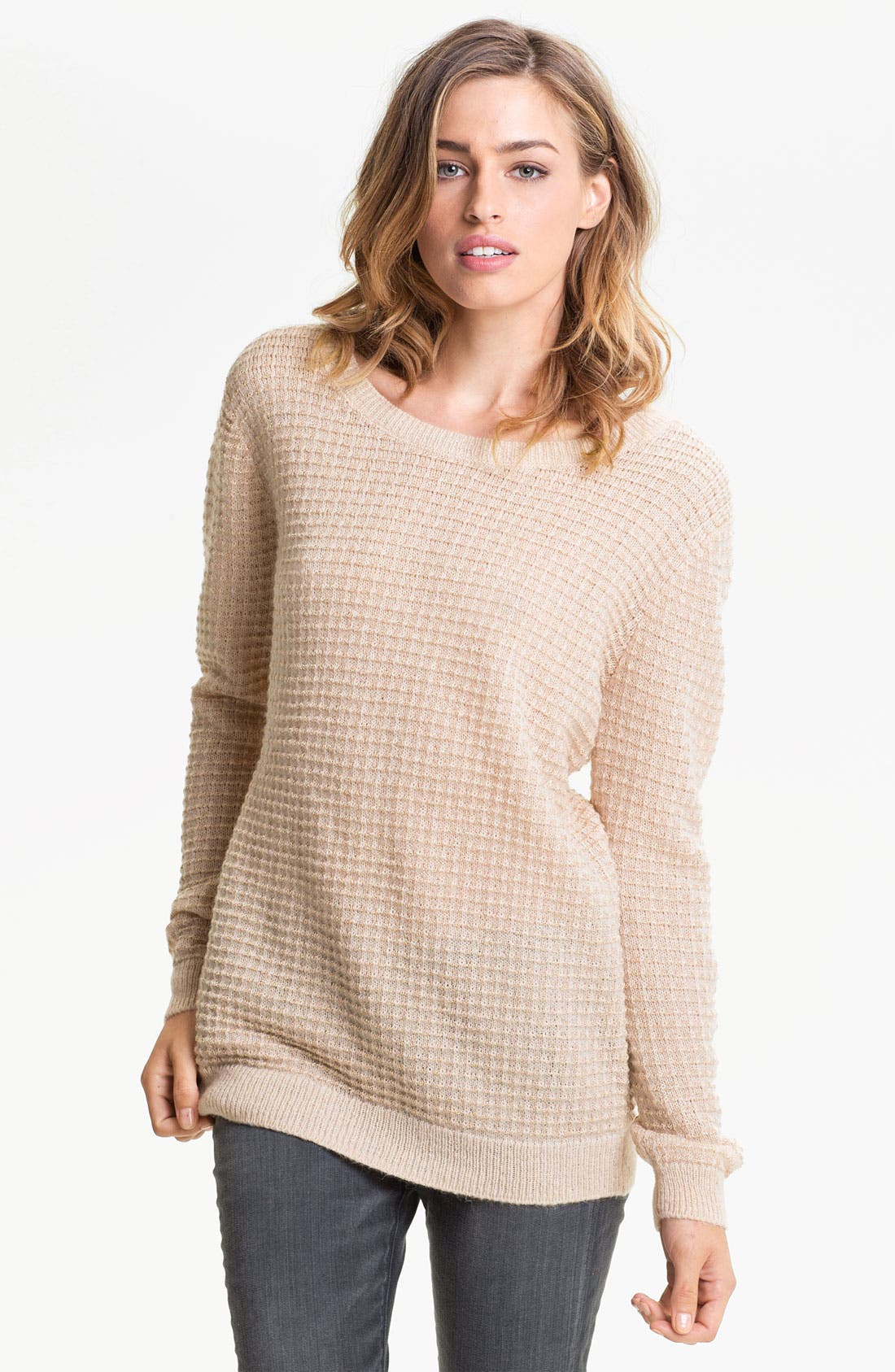 Alternate Image 1 Selected - Hinge® Open Back Thermal Knit Sweater