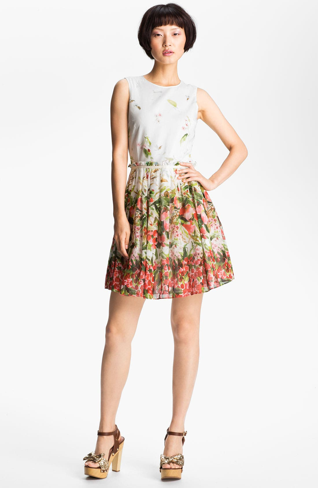 Alternate Image 1 Selected - RED Valentino Strawberry Print Dress