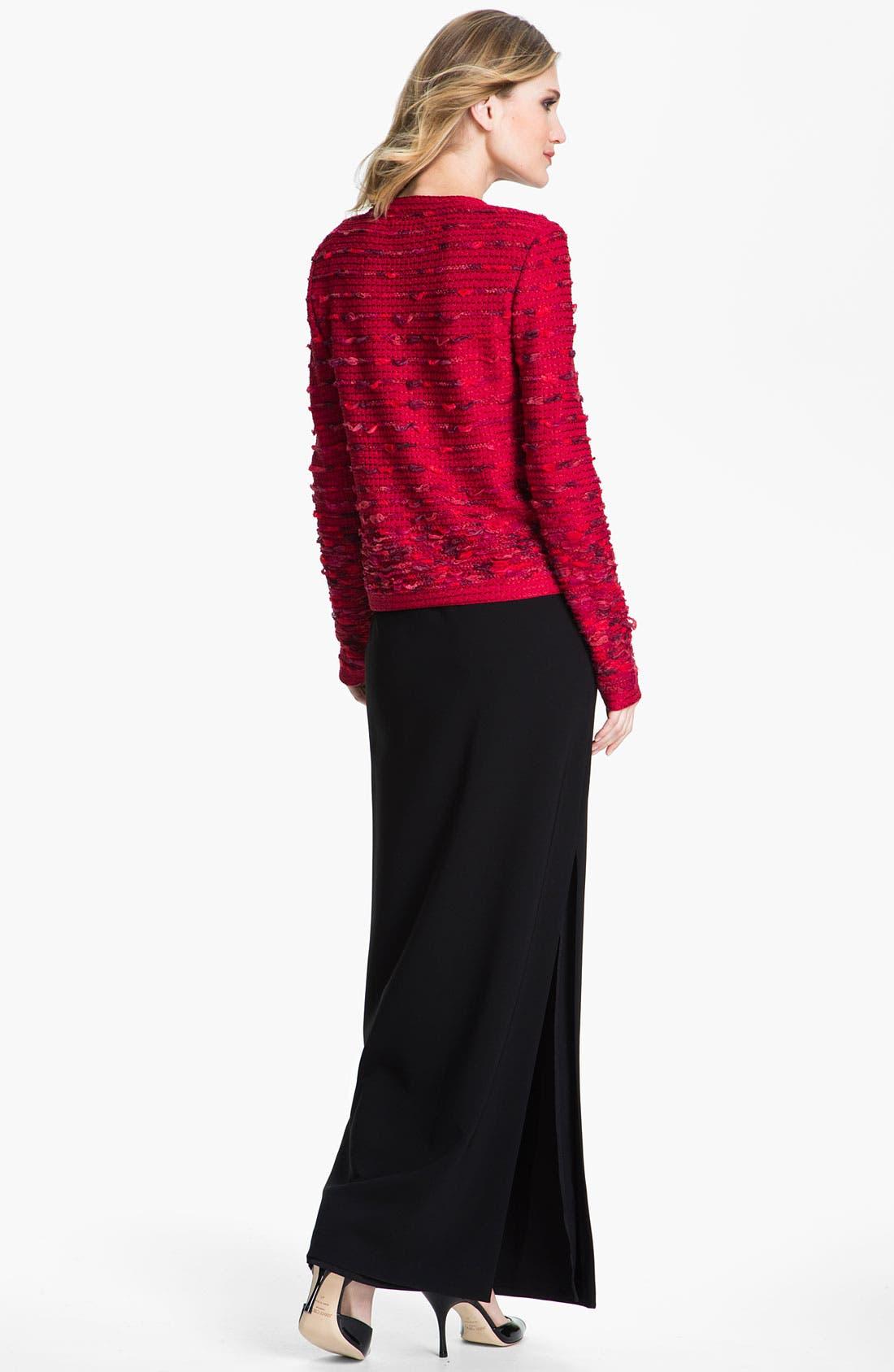 Alternate Image 4  - St. John Collection Crepe Marocain Gown Skirt