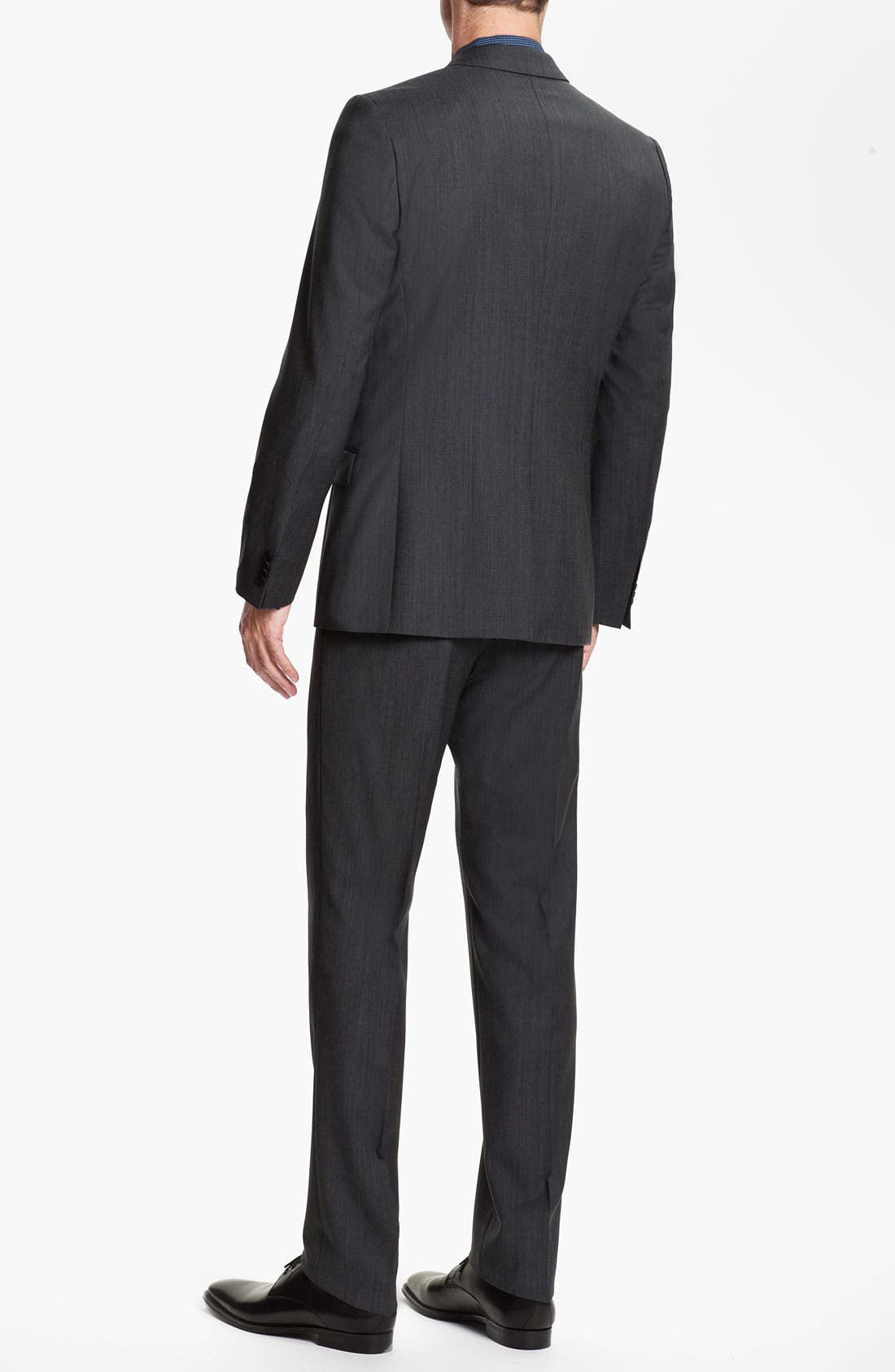 Alternate Image 3  - HUGO 'Abaro/Wior/Hedit' Trim Fit Three Piece Suit